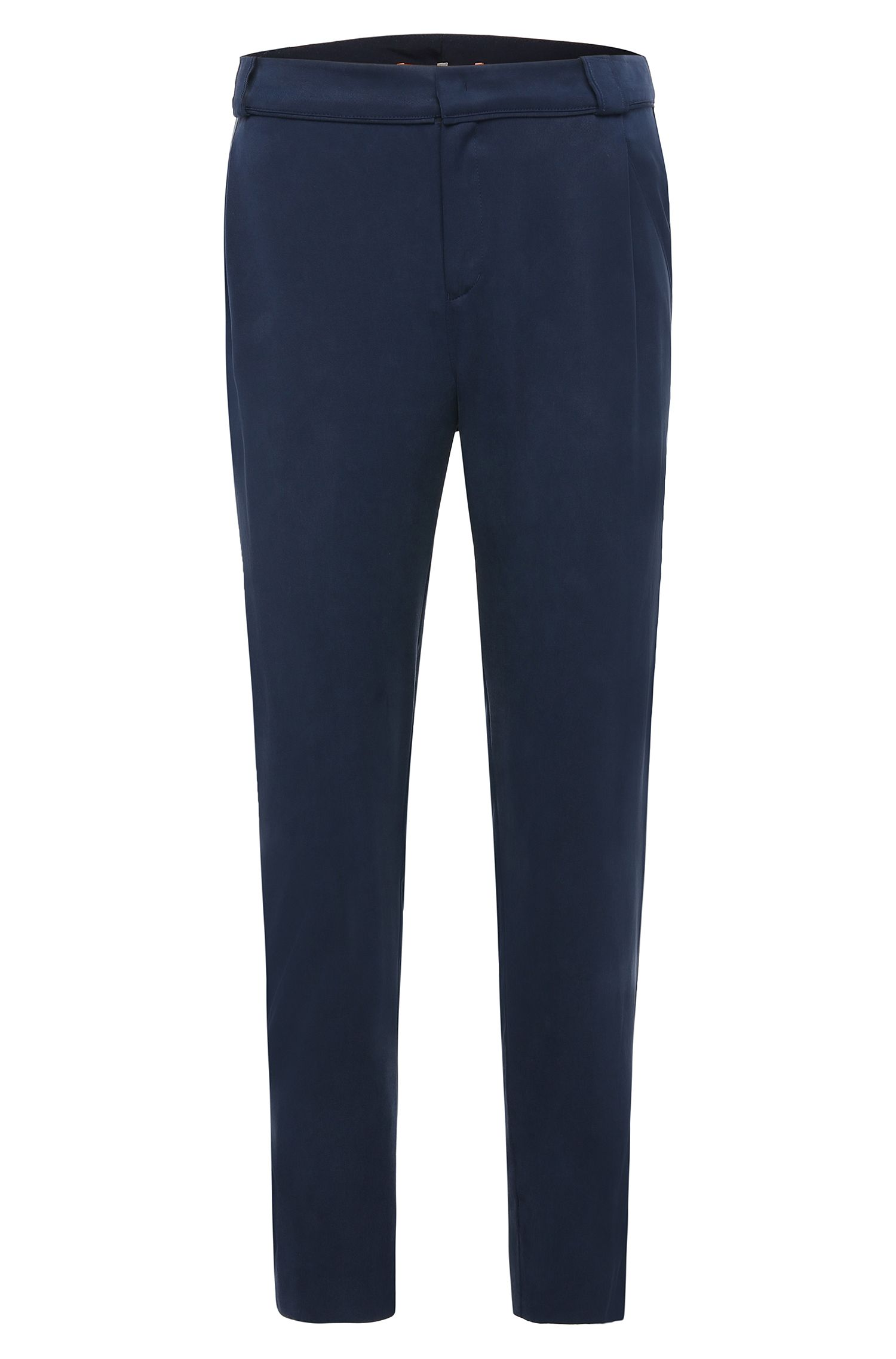 Comfort-fit trousers in fabric blend: 'Sacuty'
