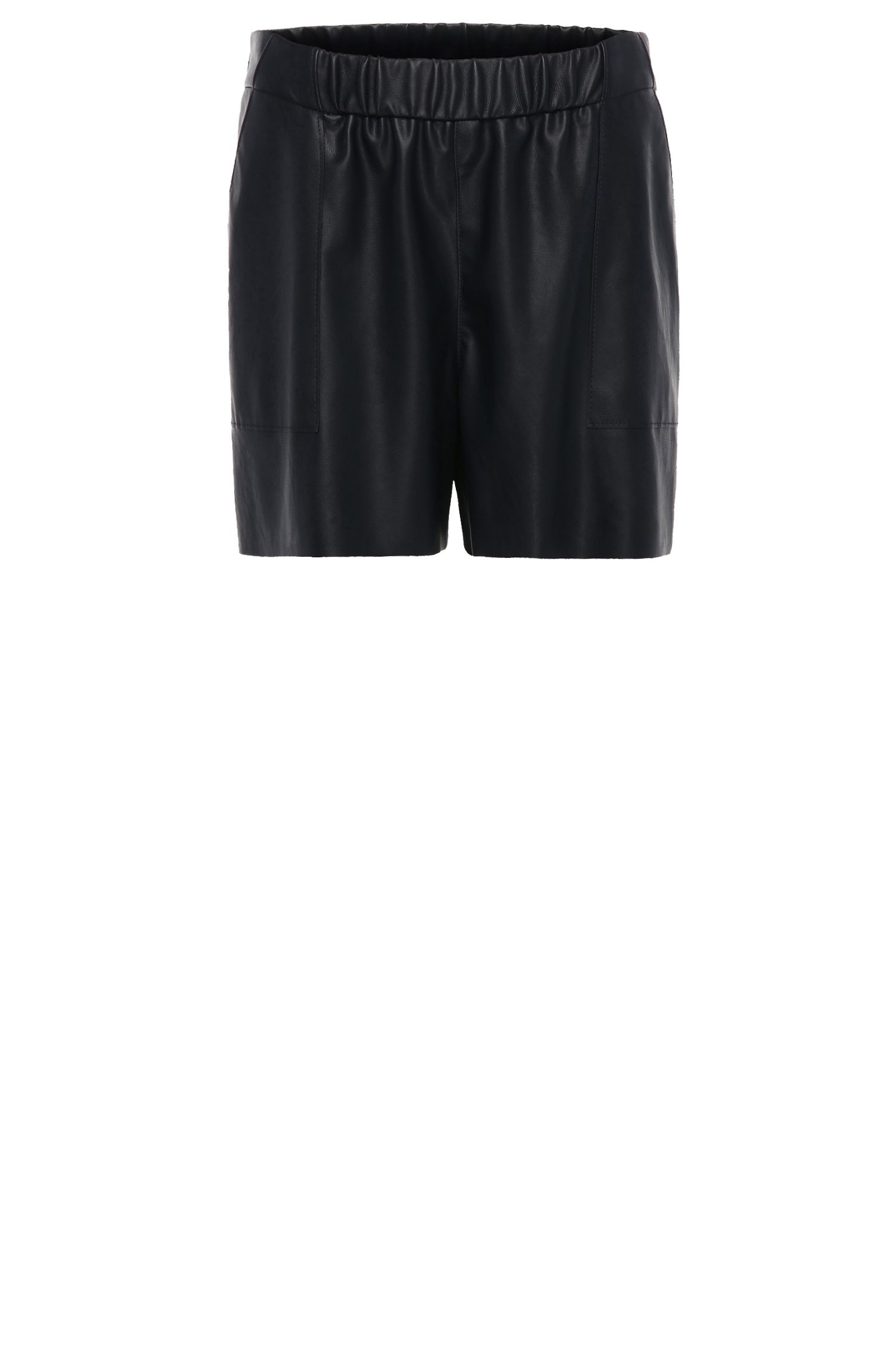 Comfort-fit short in leerlook: 'Salony'