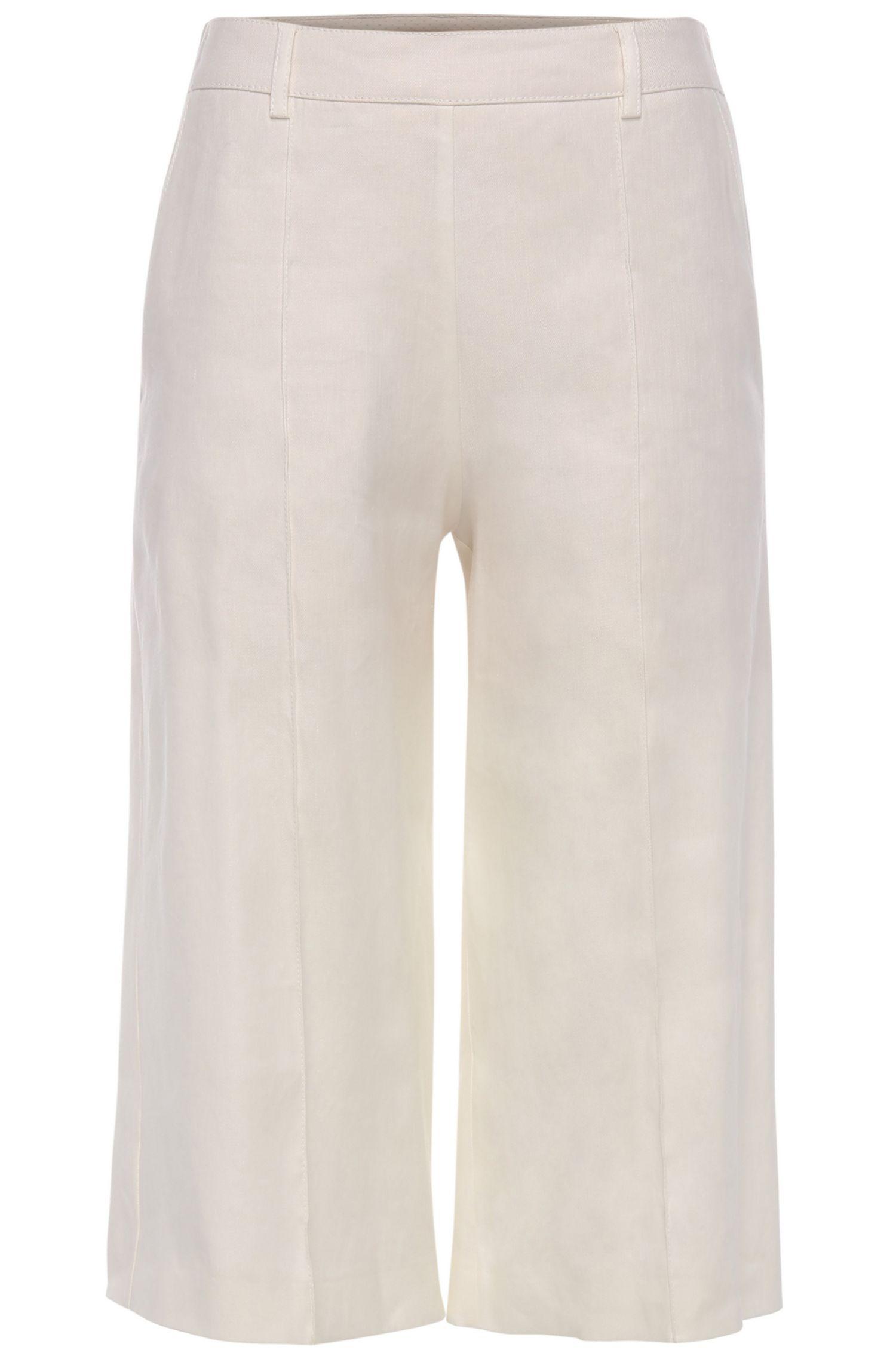 Comfort-fit broekrok van een elastische linnenmix: 'Sadippy'