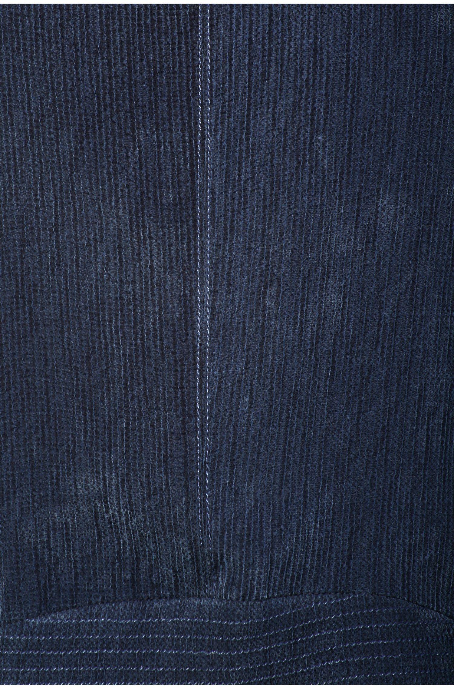 Strukturierte Biker-Jacke aus Material-Mix: ´Ocupi`