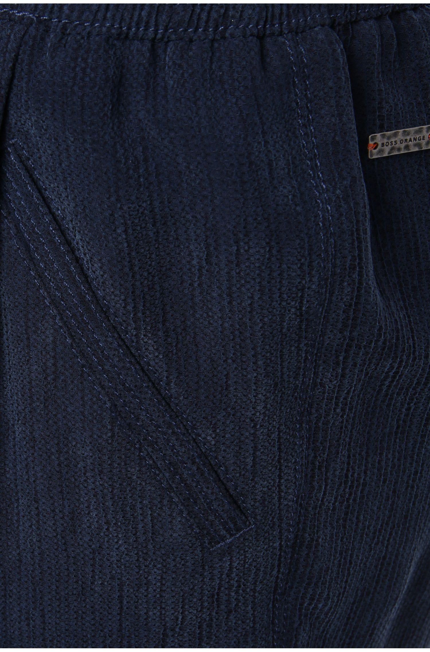 Comfort-Fit Tunnelzughose in texturierter Qualität: ´Sicupi`