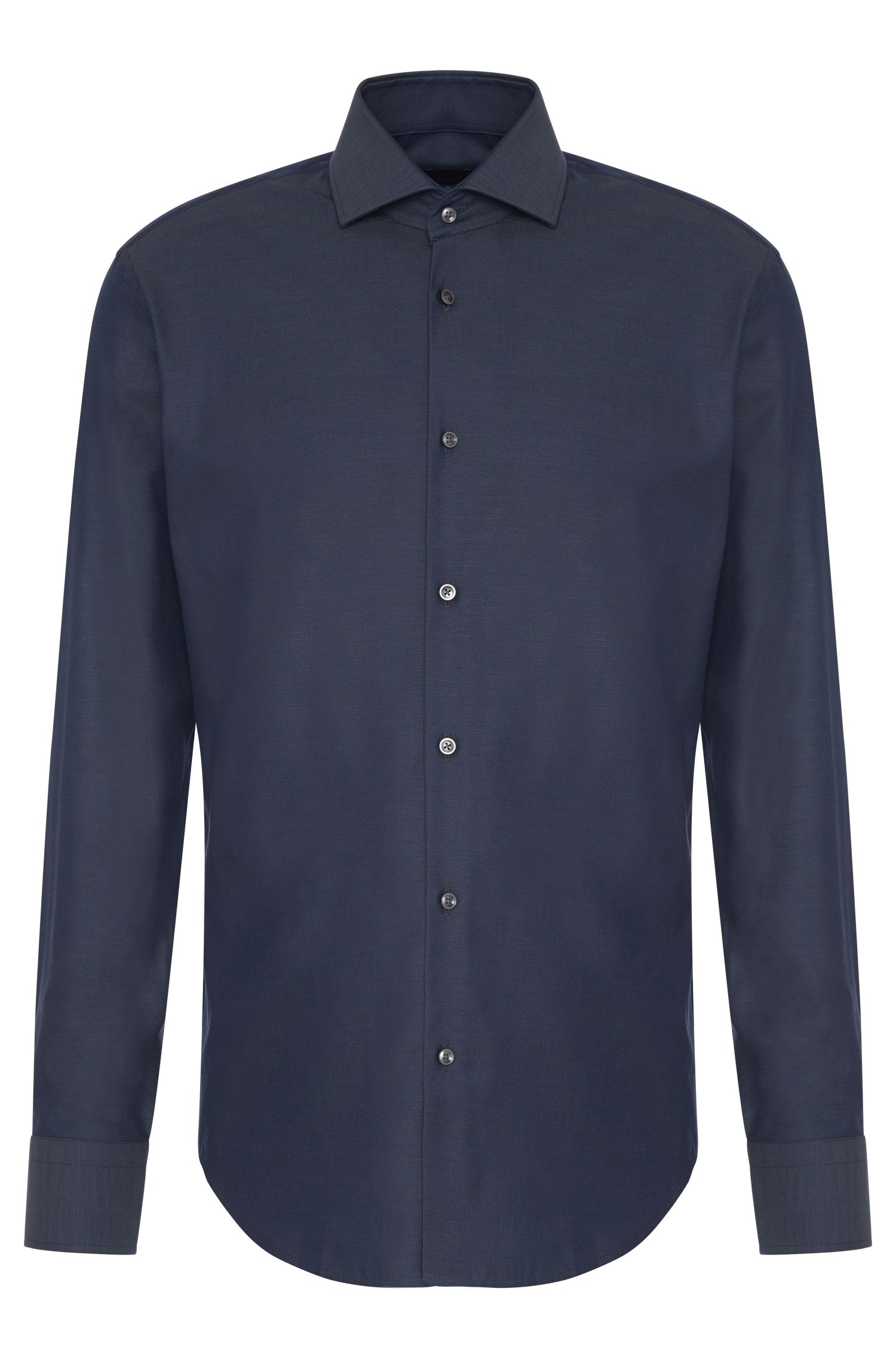 Regular-fit cotton shirt with extra long sleeves: 'Gordon'