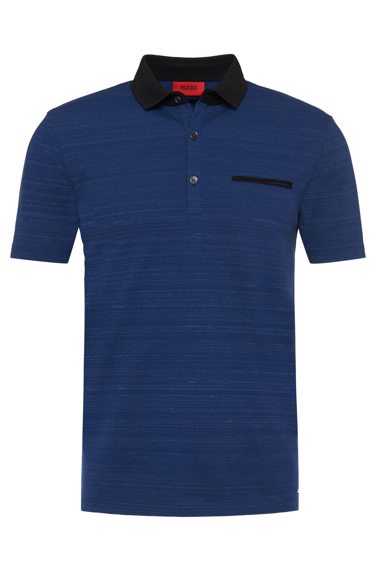T-shirt loose fit a righe sottili, in cotone elasticizzato: 'Desaro'