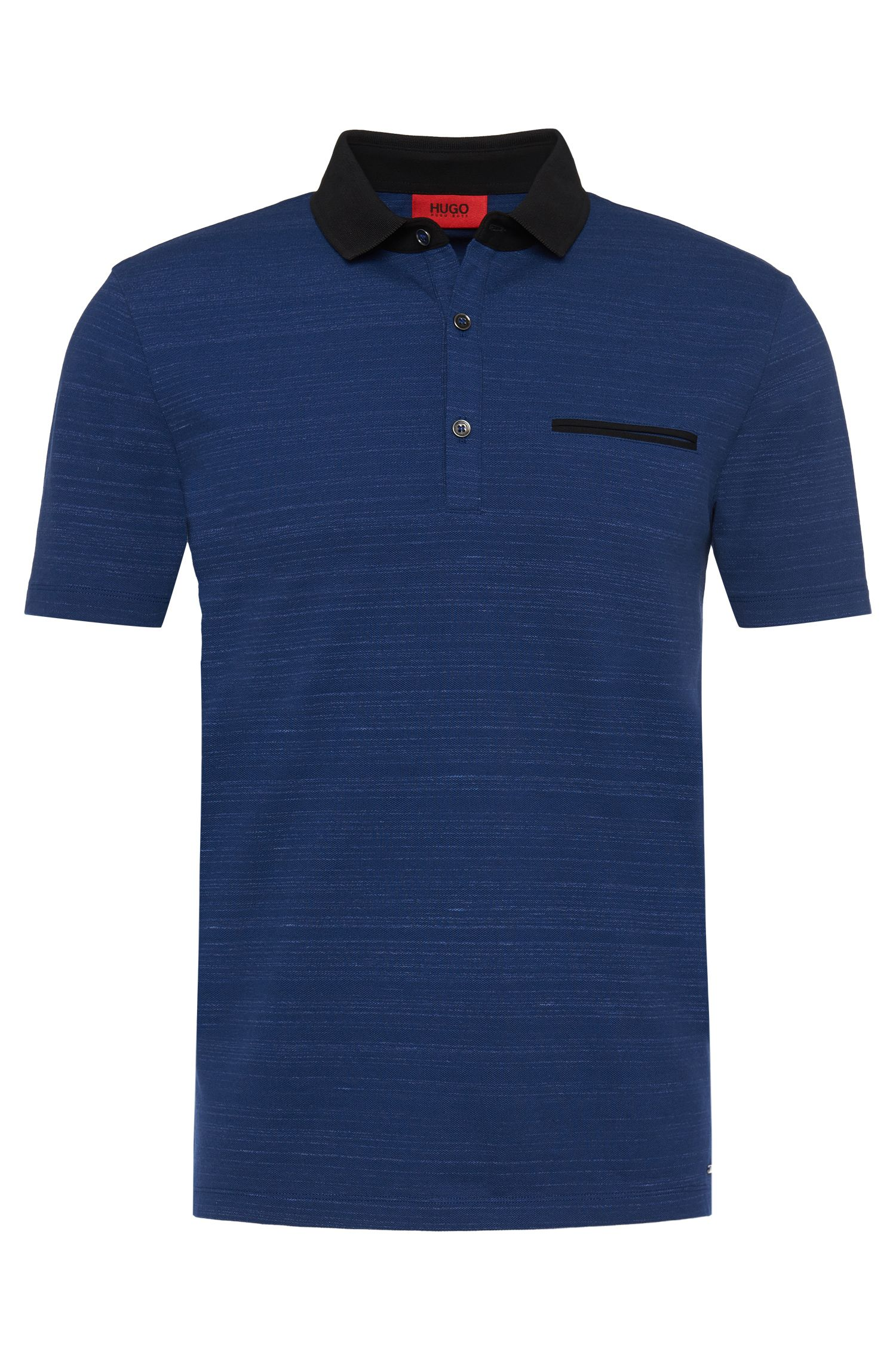 T-shirt Loose Fit en coton stretch à rayures discrètes: «Desaro»
