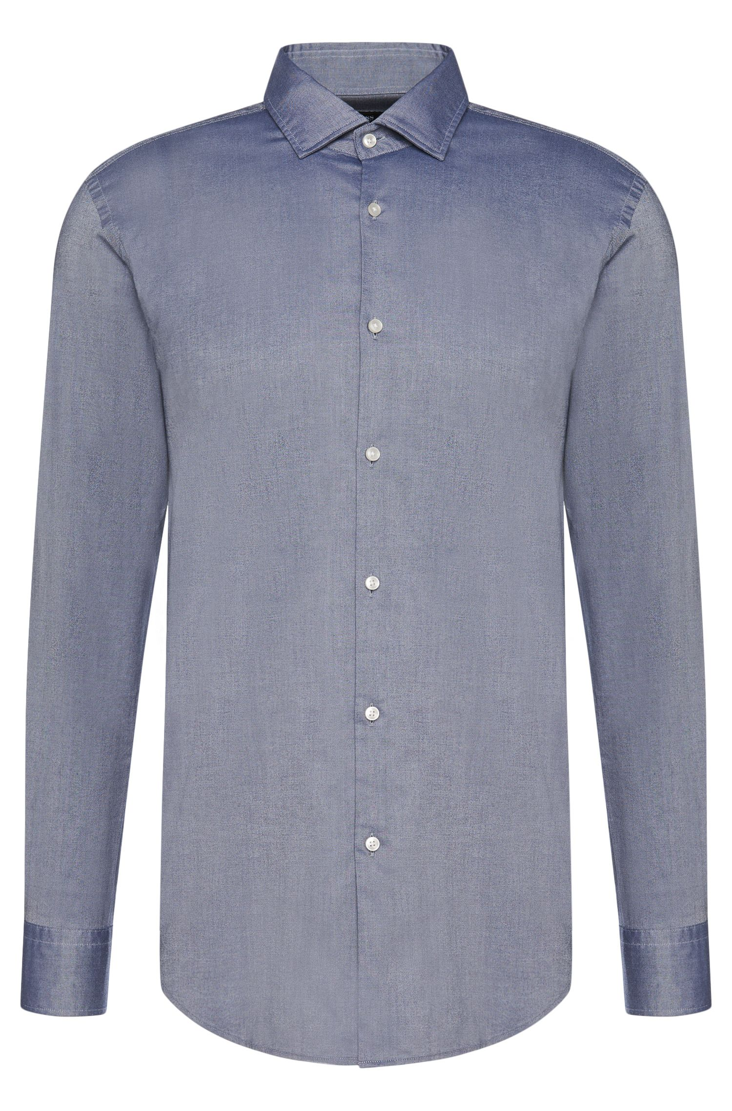 Slim-fit shirt in cotton: 'Jex'