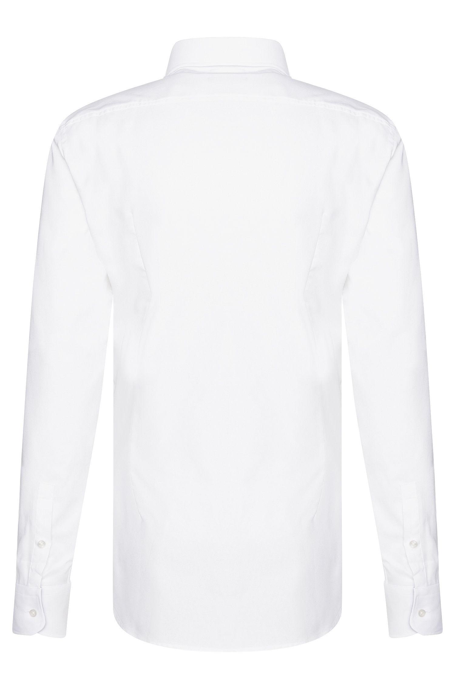 Chemise Slim Fit en coton avec éléments en contraste: «Jery»
