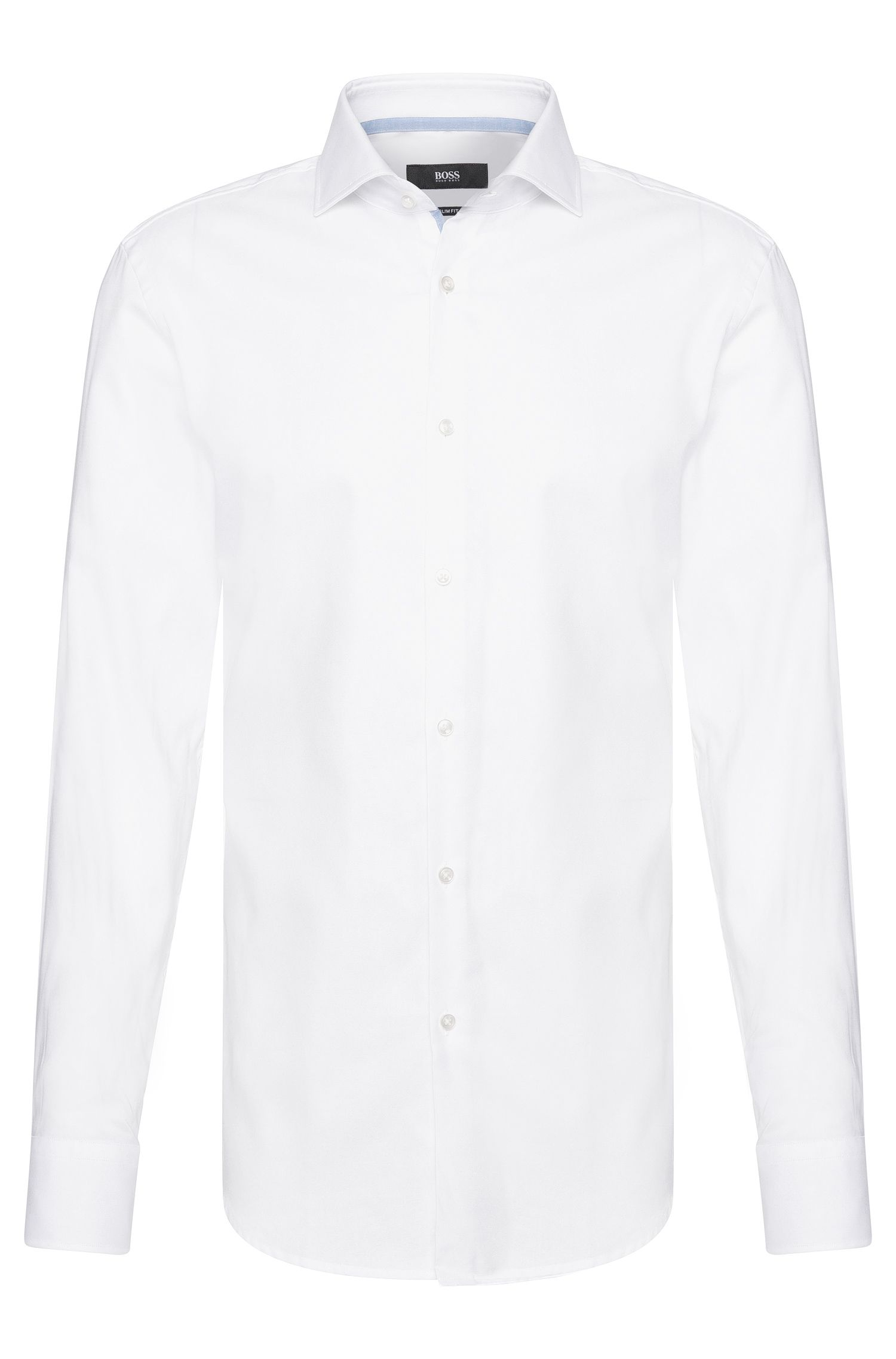 Slim-fit shirt in cotton with contrasting elements: 'Jery'