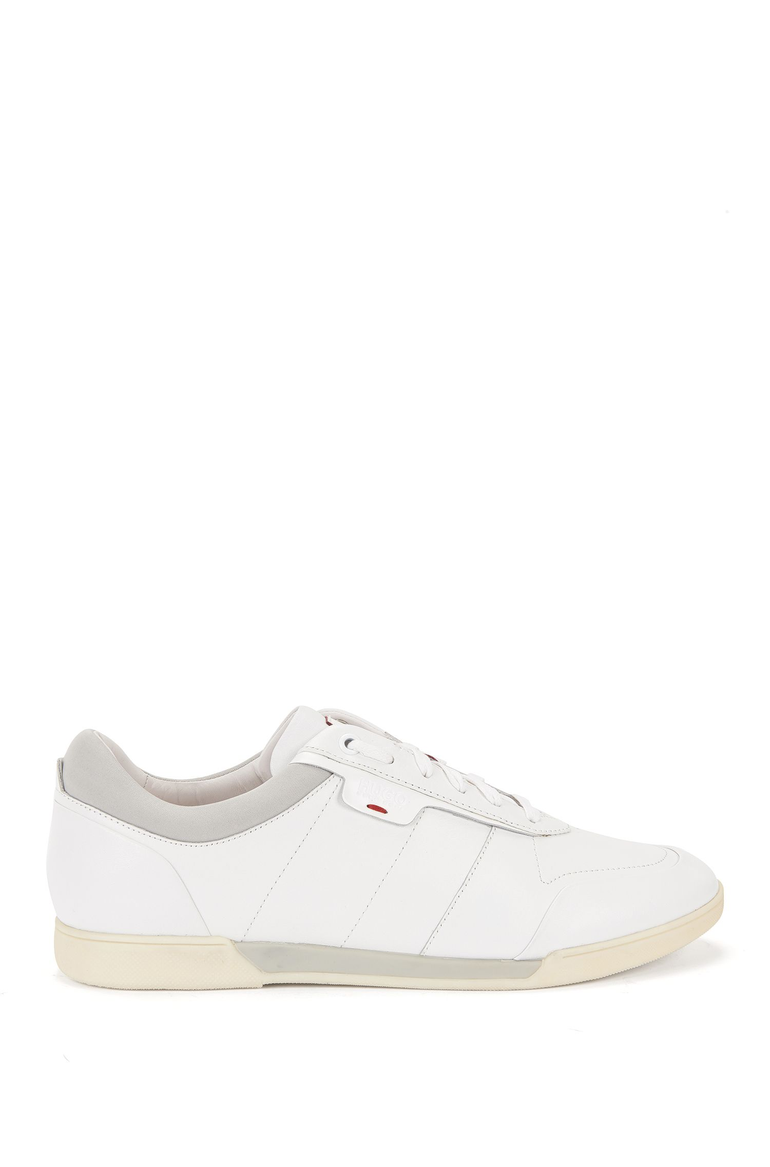 Leather trainers with double-layer sole: 'Solid_Lowp-It'