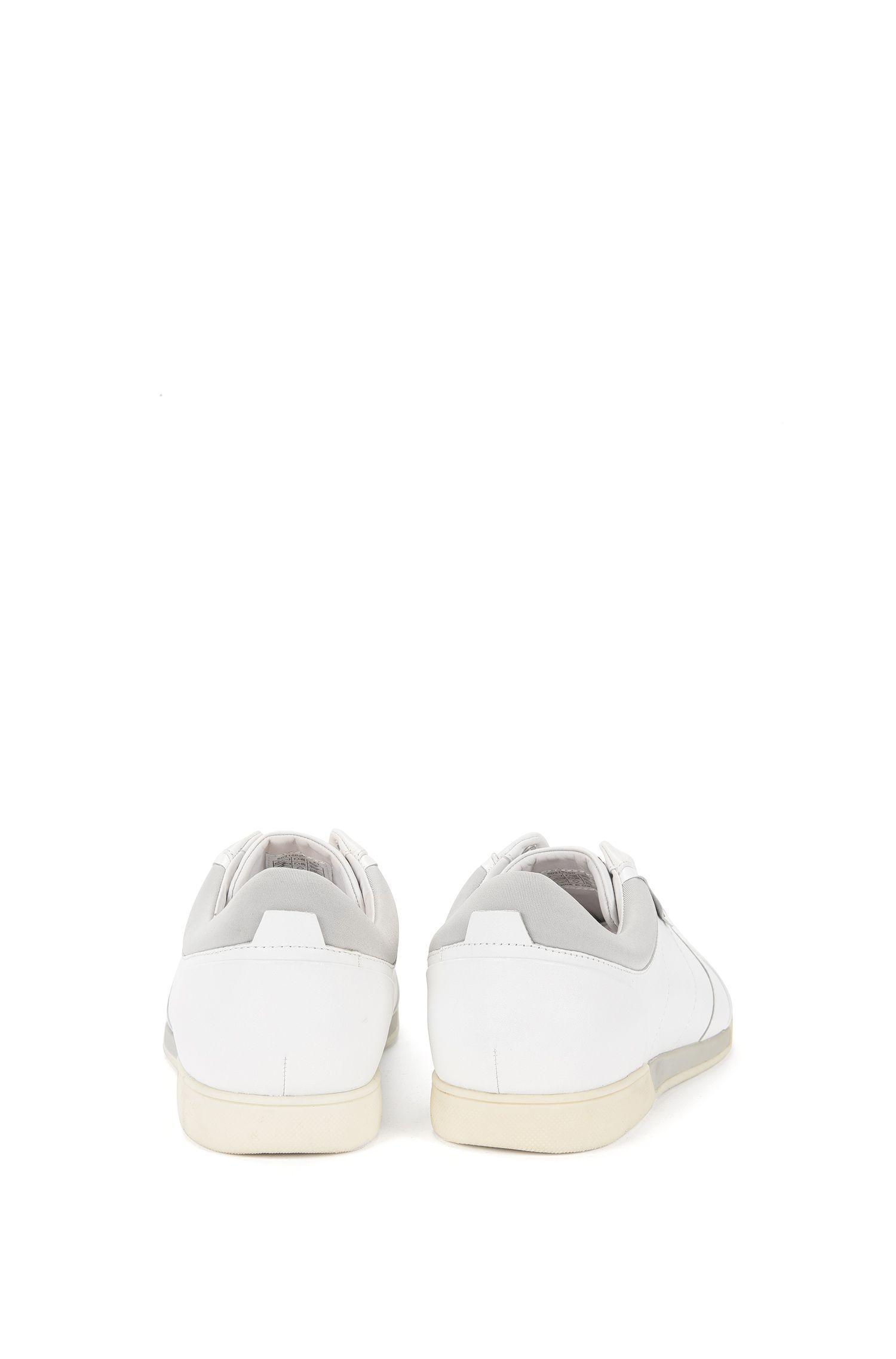 Sneakers aus Leder mit Zweischichtensohle: 'Solid_Lowp-It'