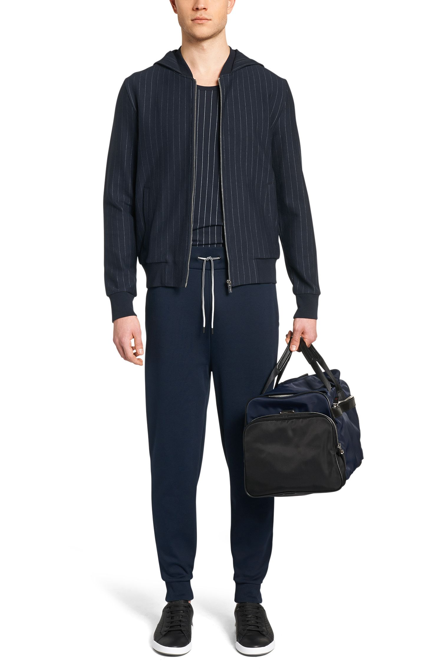 Loose-Fit Sweatshirt-Jacke aus Baumwoll-Mix mit Kapuze: 'Davellino'