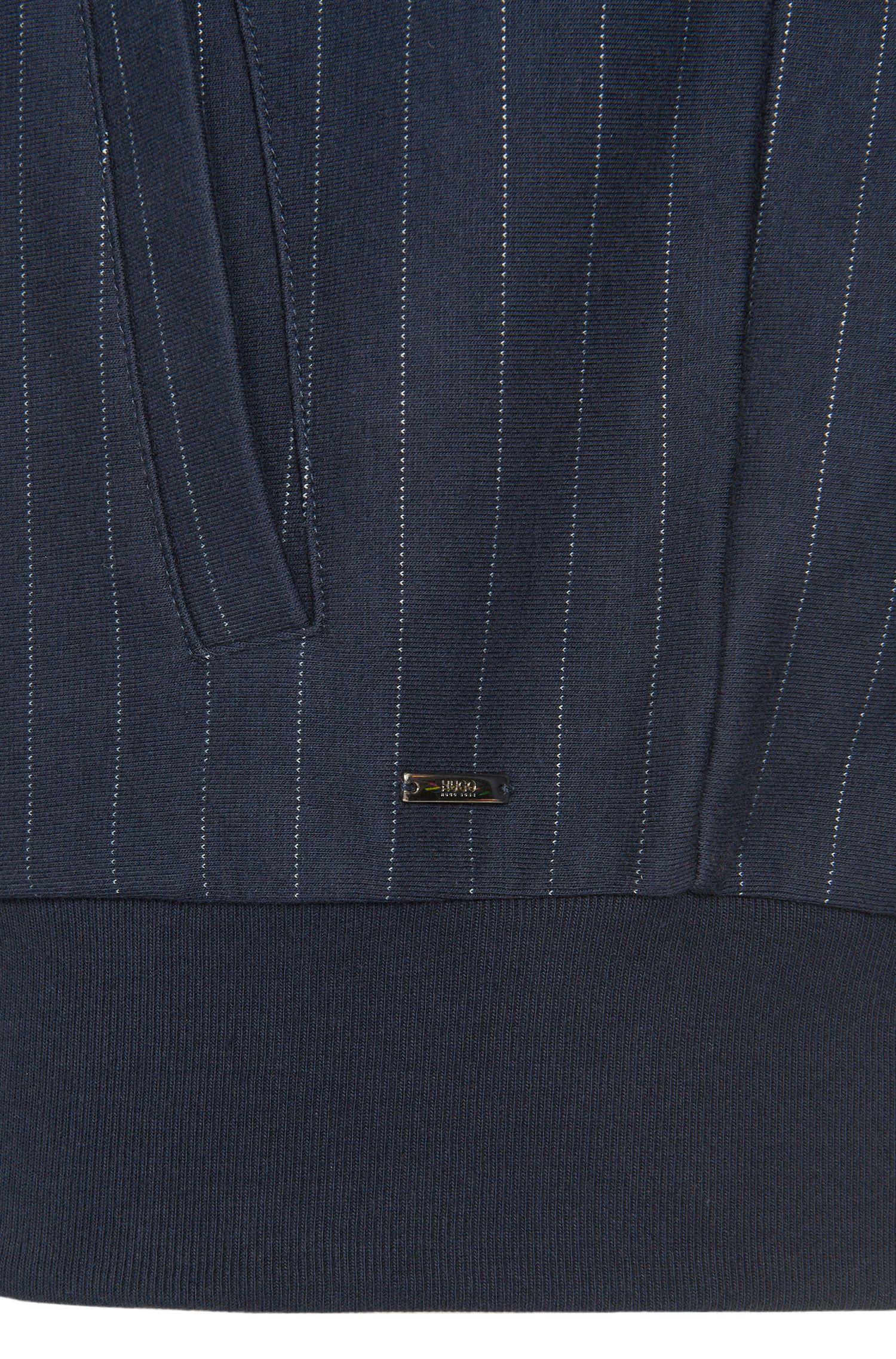 Loose-fit sweatshirtjas van een katoenmix met capuchon: 'Davellino'