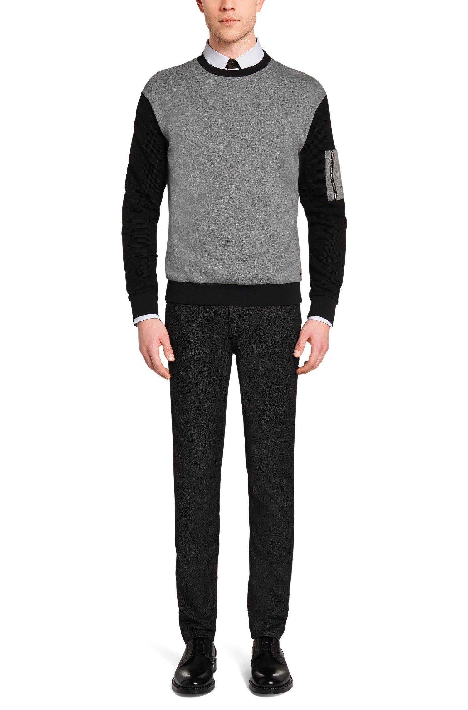 Zweifarbiges Loose-Fit Sweatshirt aus Baumwolle: 'Danremo'