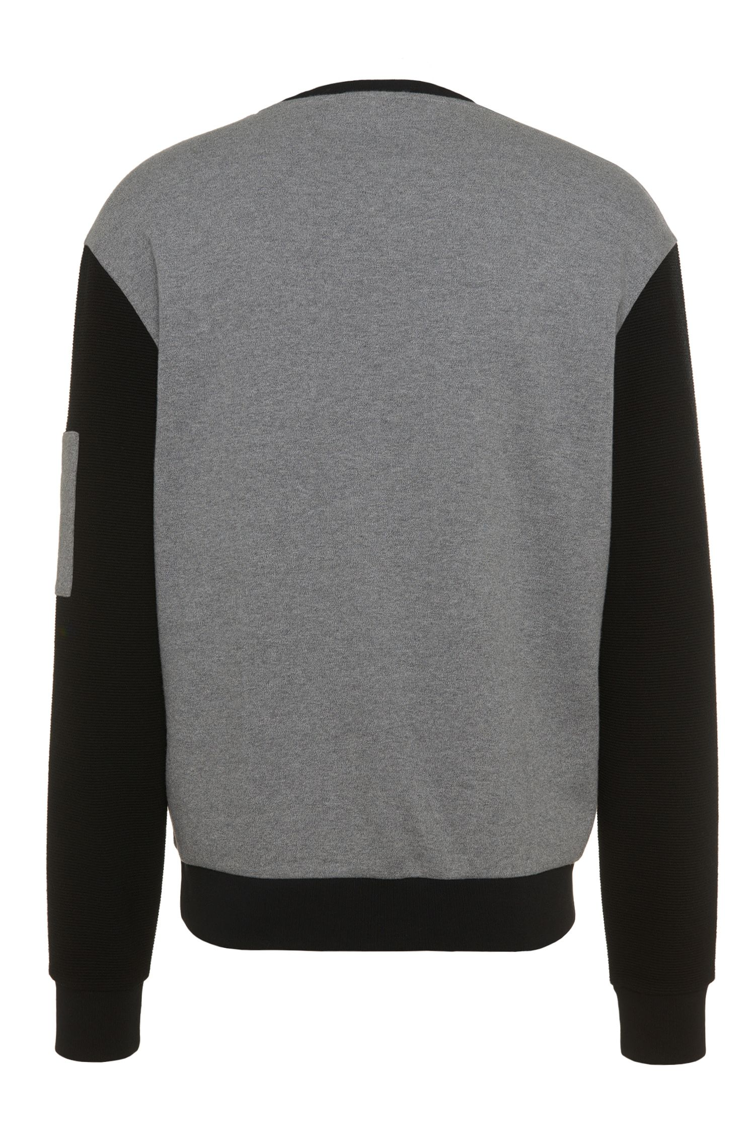 Sweat-shirt Loose Fit en coton bicolore: «Danremo»