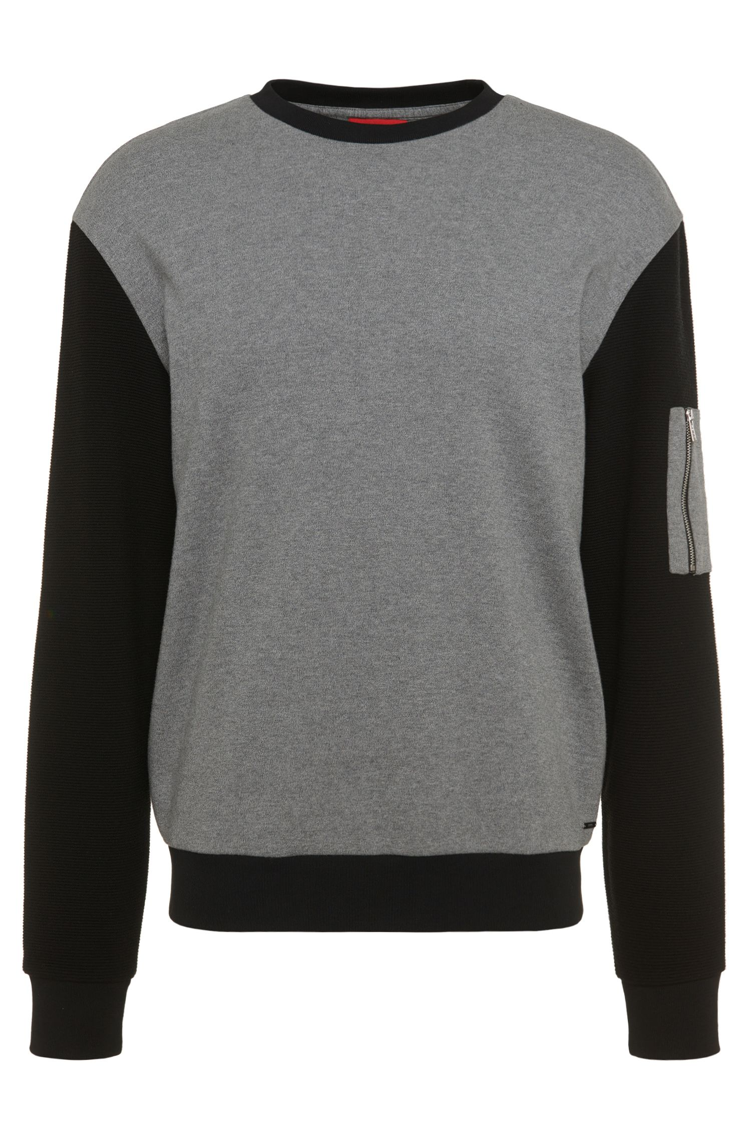 Sweat-shirt Loose Fit en coton bicolore : « Danremo »