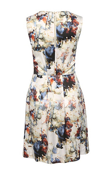 Gemustertes Kleid aus Viskose mit Seide: ´Ameschy1`, Gemustert