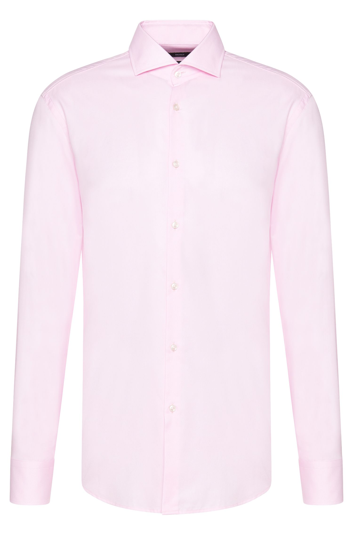 Slim-fit shirt in pure cotton: 'Jason'