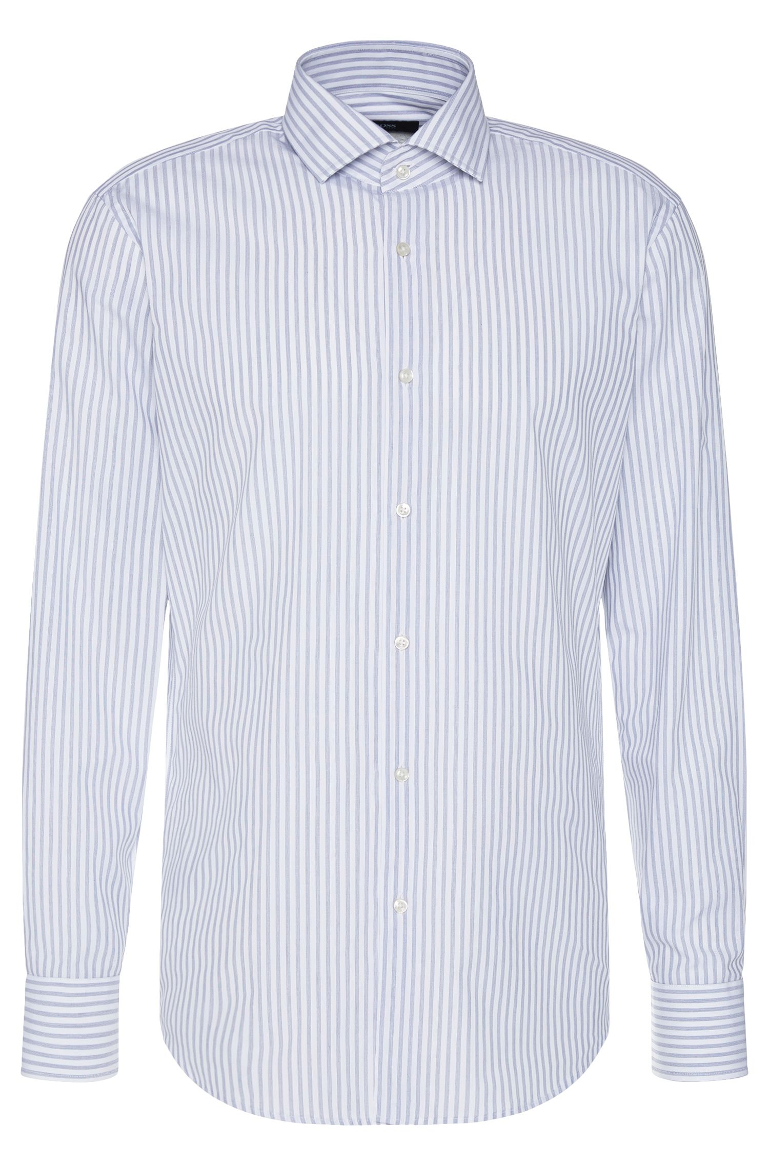 Camicia regular fit in cotone con motivo a righe: 'Gordon'