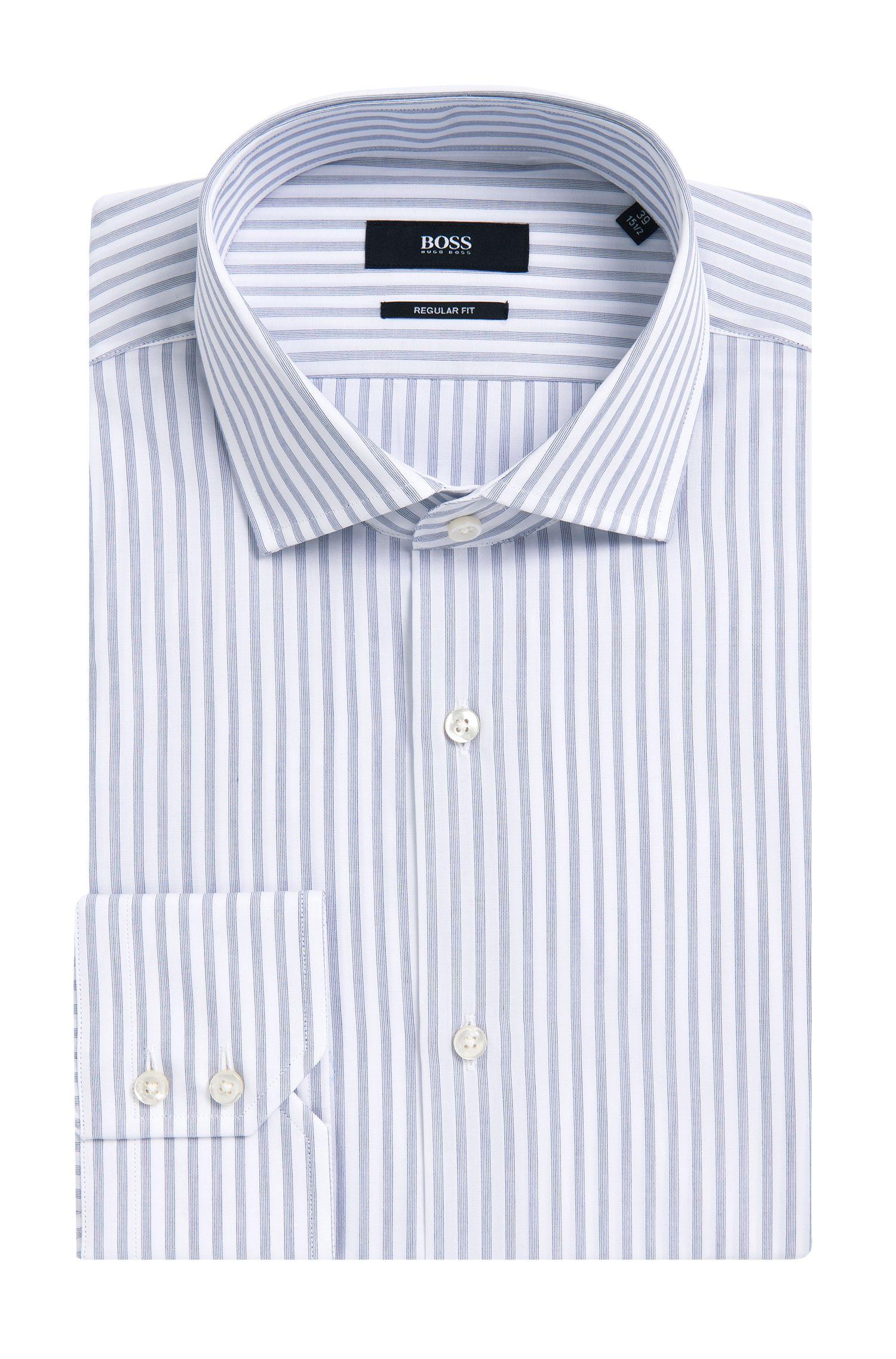 Chemise Regular Fit en coton à rayures: «Gordon»