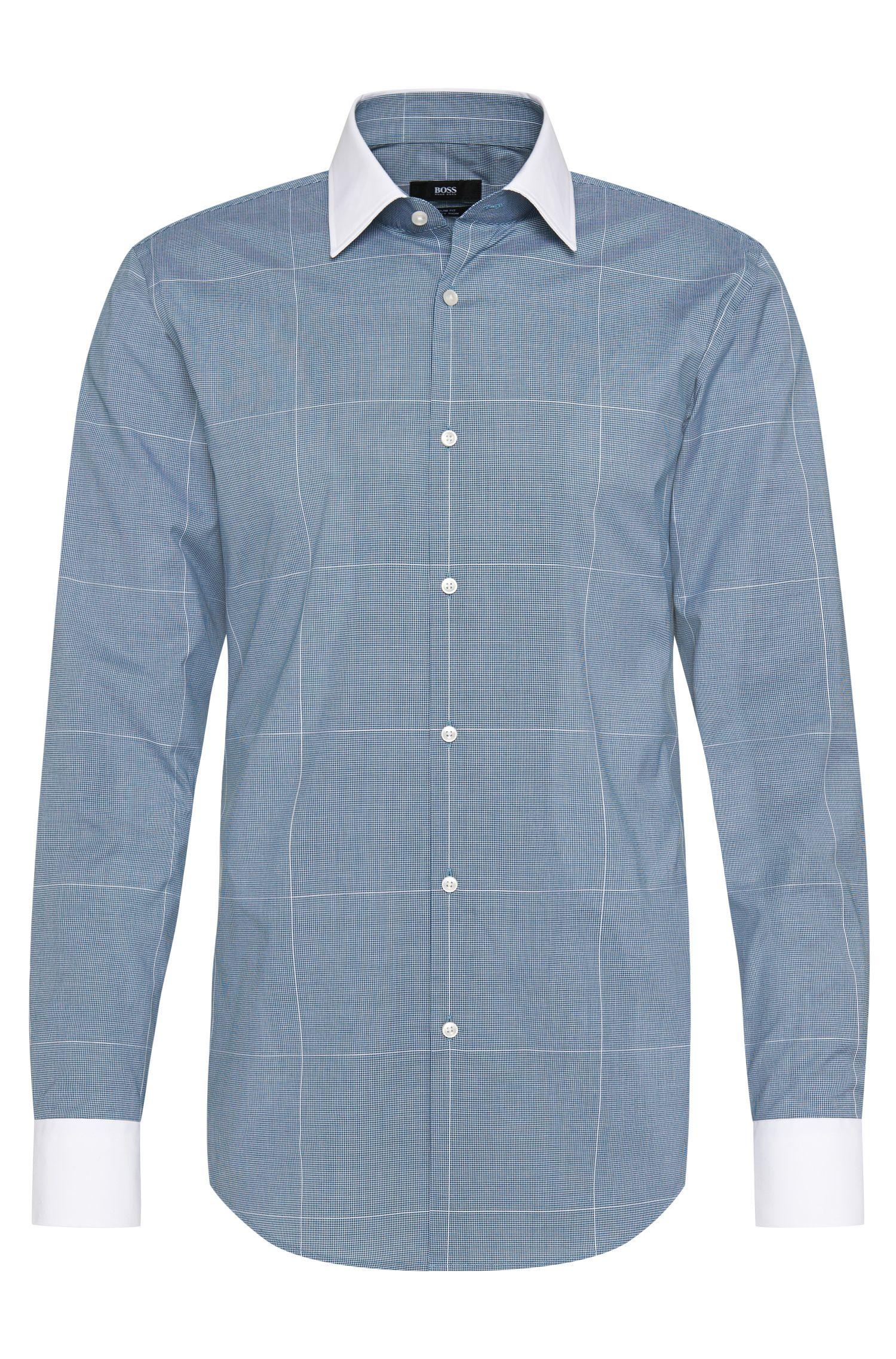 Slim-Fit Hemd aus Baumwolle mit kontrastiven Details: 'Jonnes'