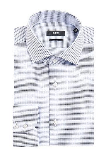 Kariertes Regular-Fit Hemd aus reiner Baumwolle: 'Gordon', Dunkelblau