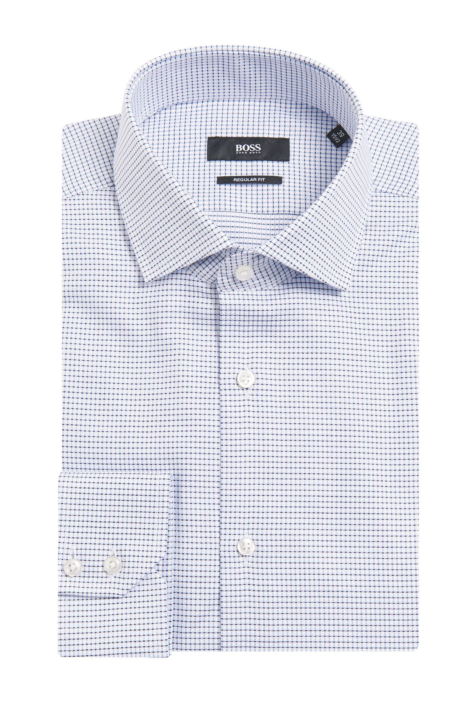 Chemise Regular Fit à carreaux, en coton: «Gordon»