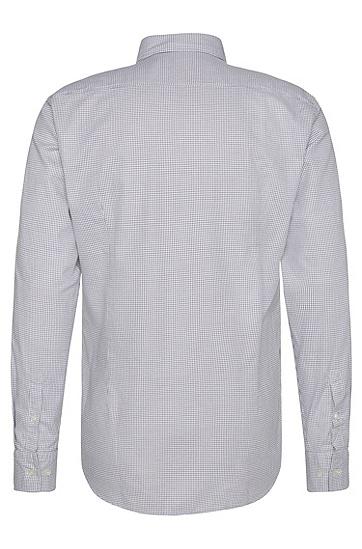 Fein kariertes Slim-Fit Hemd aus Baumwolle: 'Jex', Grau