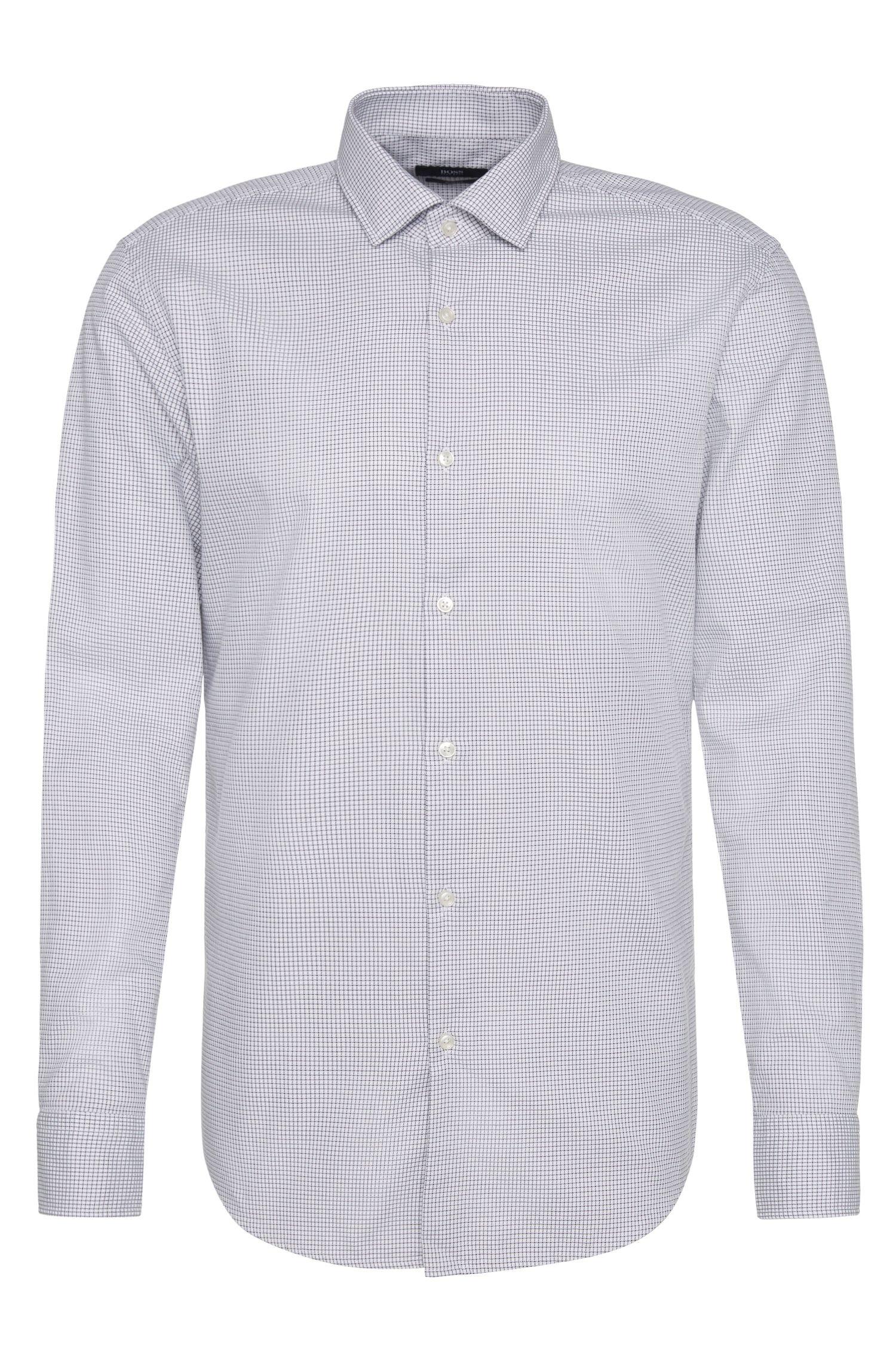 Fein kariertes Slim-Fit Hemd aus Baumwolle: 'Jex'