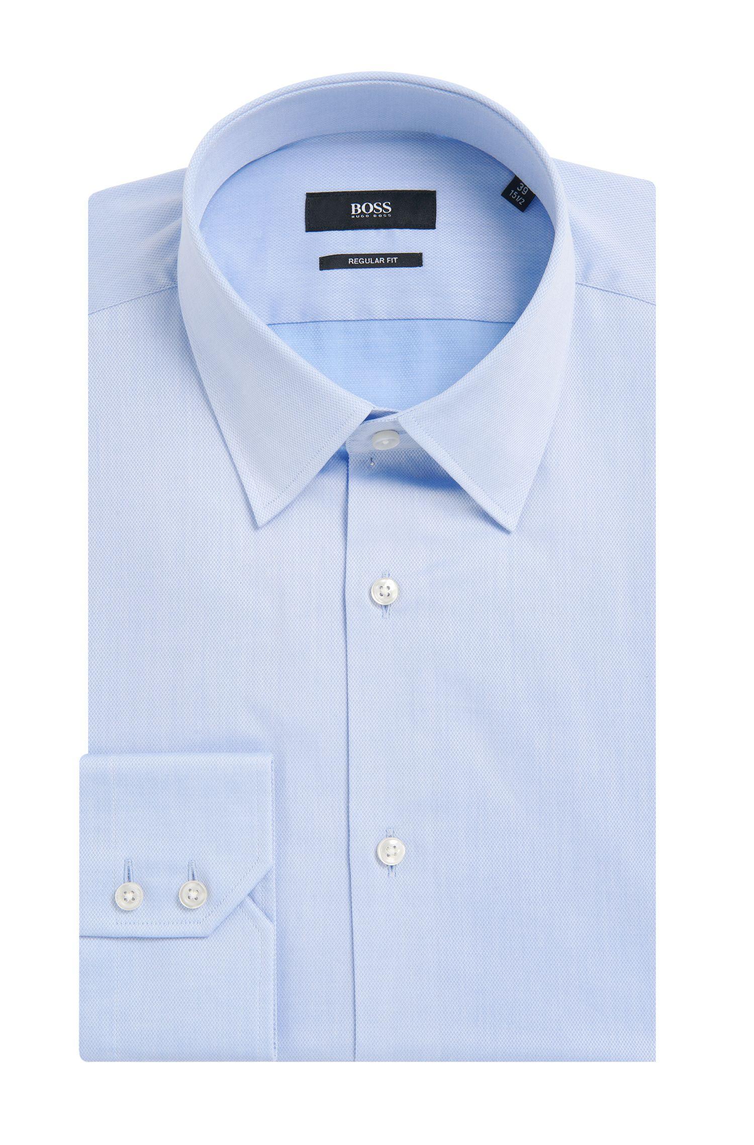 Regular-Fit Hemd aus Baumwolle mit französischen Sportmanschetten: 'Enzo'