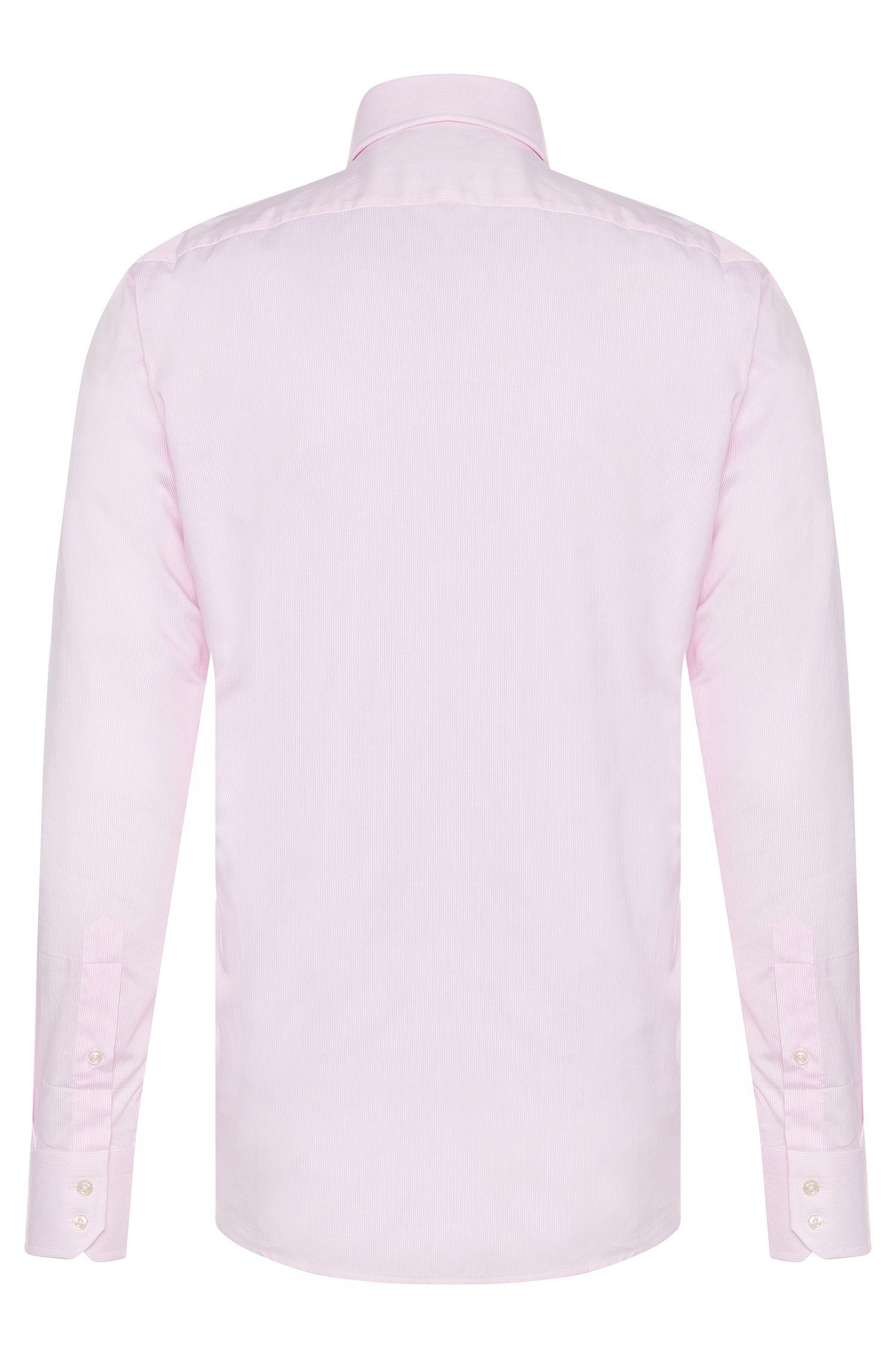 Fein gestreiftes Regular-Fit Baumwollhemd mit extra langen Ärmeln: 'Gordon'