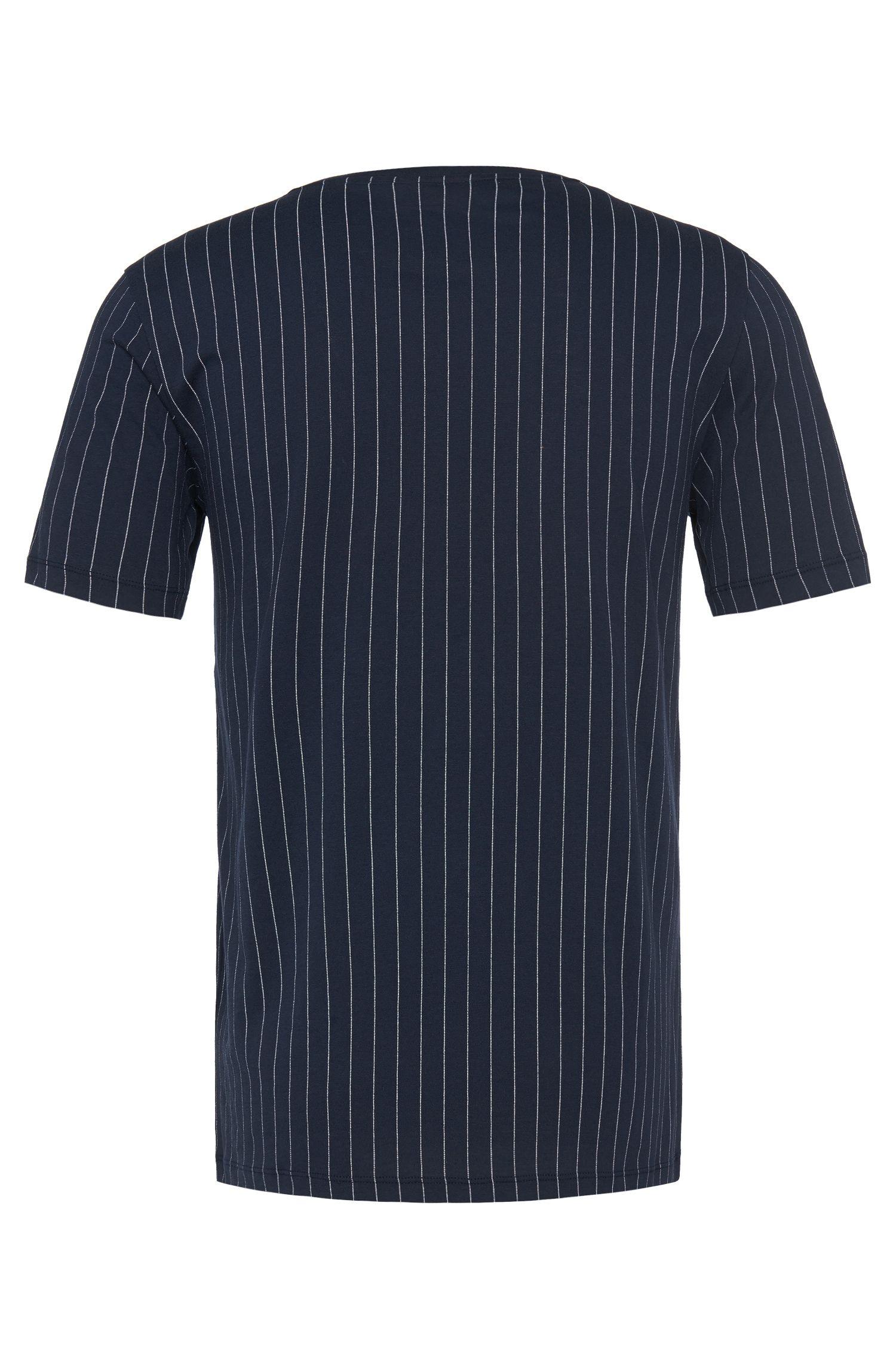 Gestreept loose-fit T-shirt van katoen: 'Dineliner'