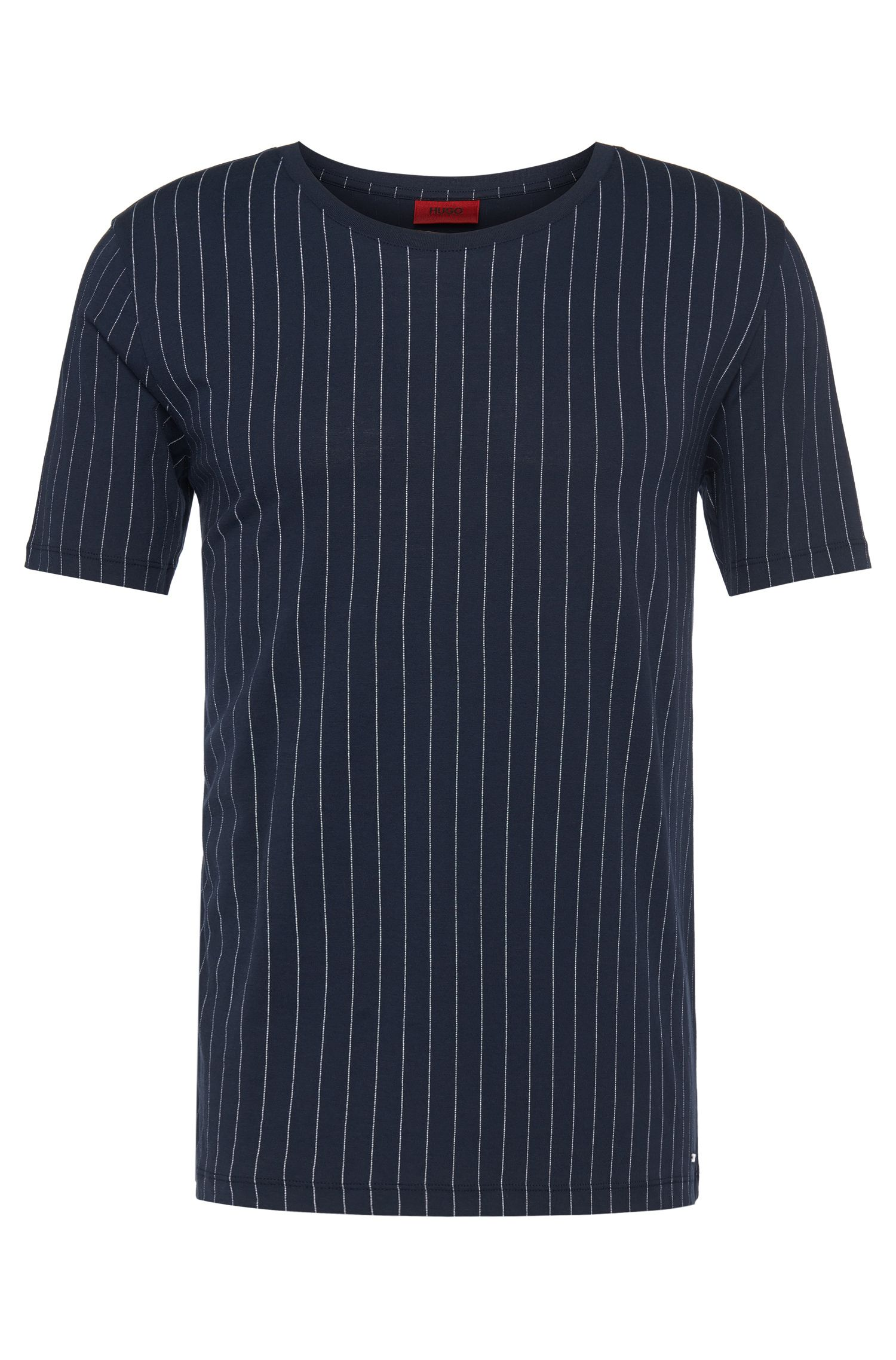 Striped, loosely fitting t-shirt in cotton: 'Dineliner'