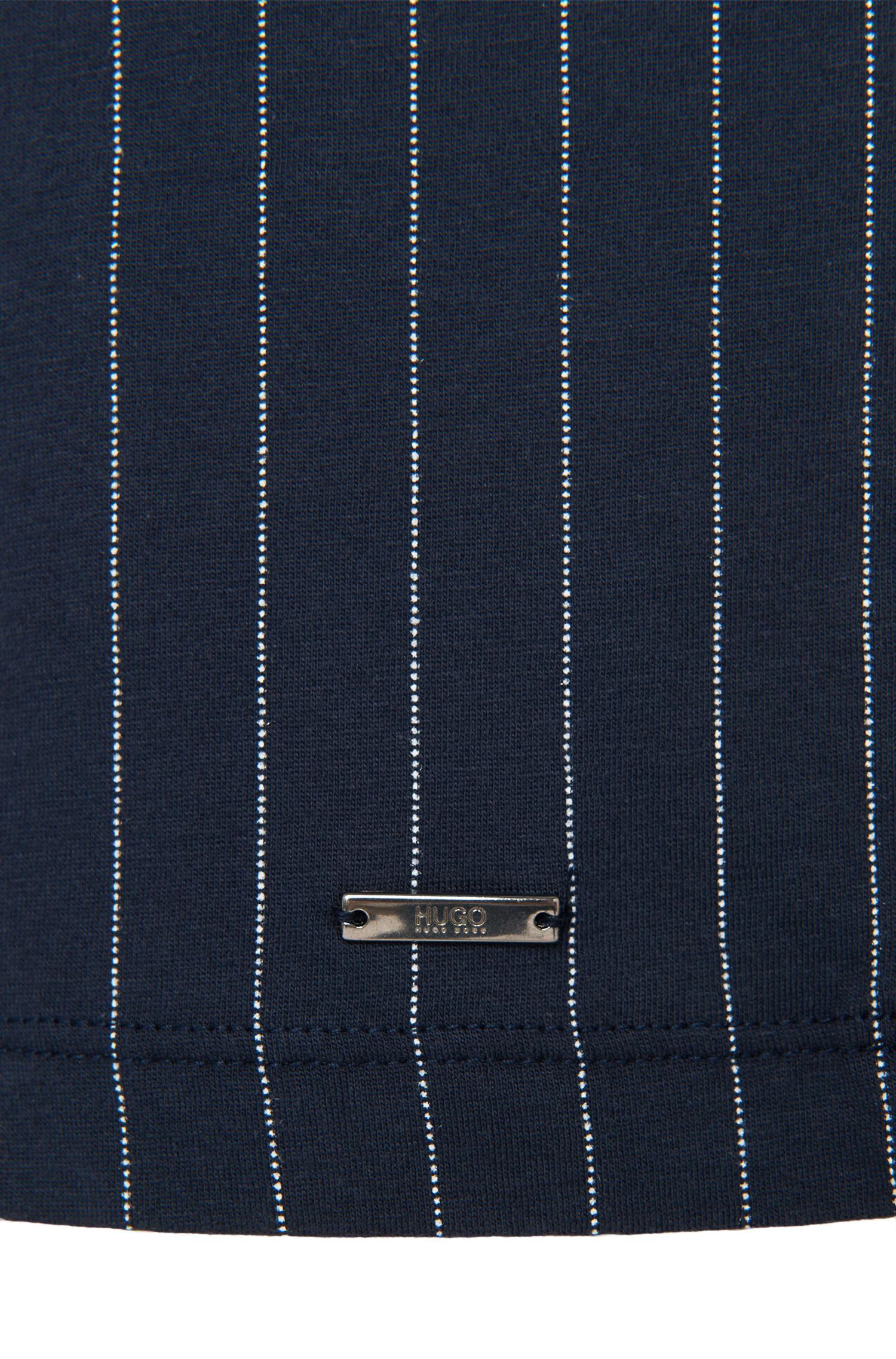 Gestreiftes Loose-Fit T-Shirt aus Baumwolle: 'Dineliner'