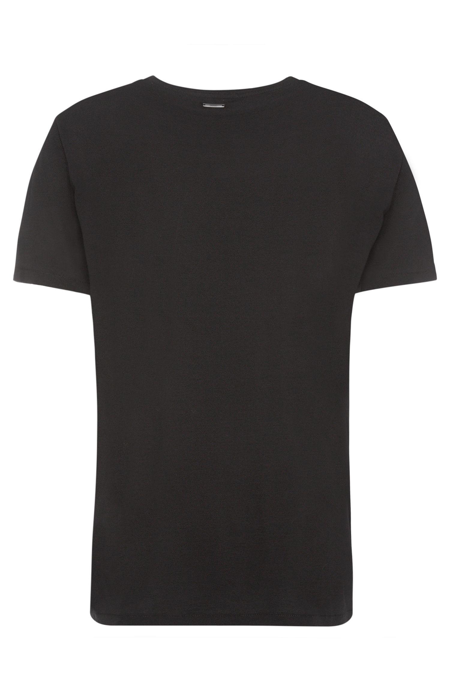 T-shirt Loose Fit en coton à imprimé gommé sur le devant: «Dipt»