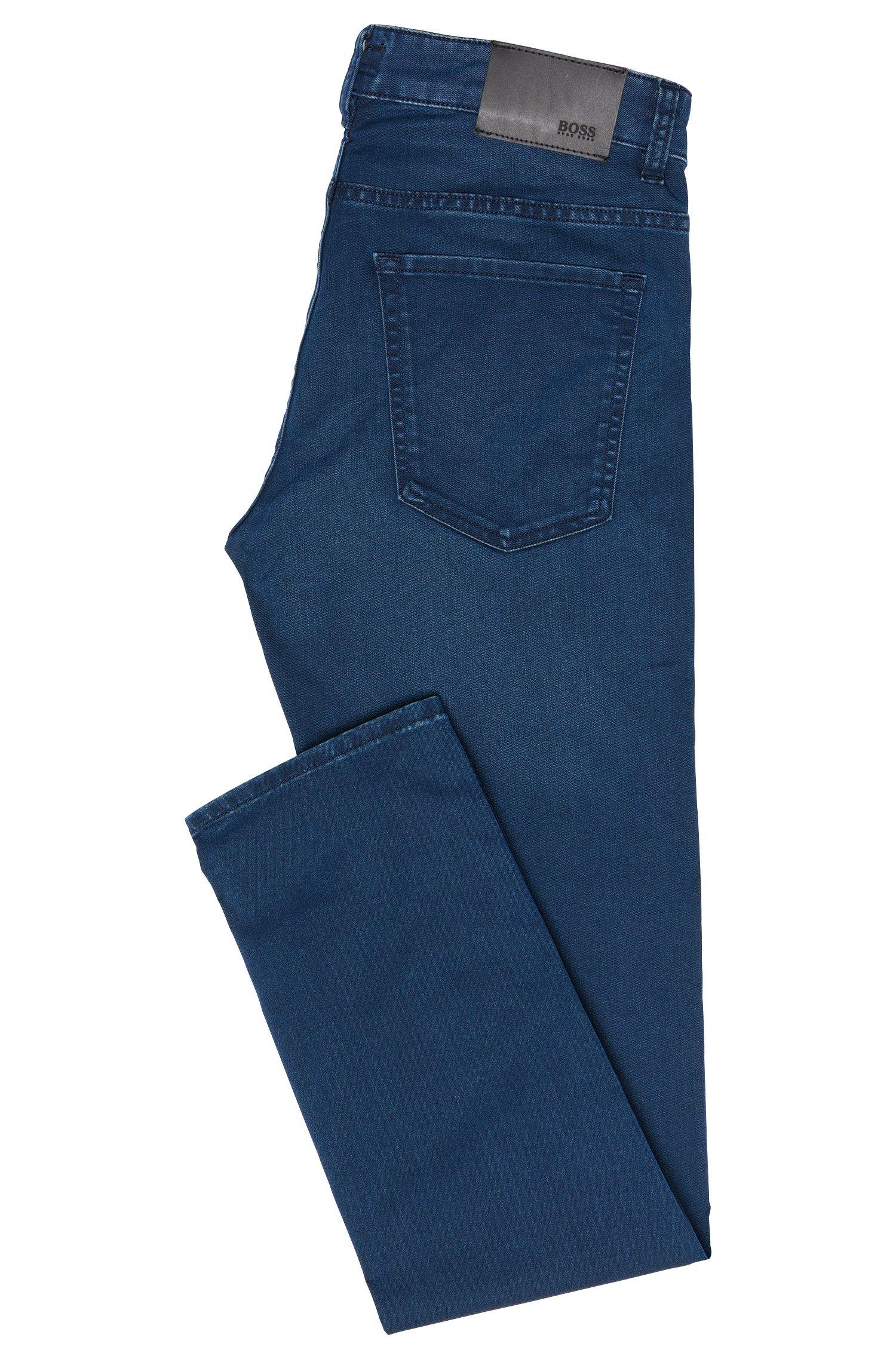 Slim-Fit Jeans aus Baumwoll-Mix mit Used-Waschung: 'Delaware3'