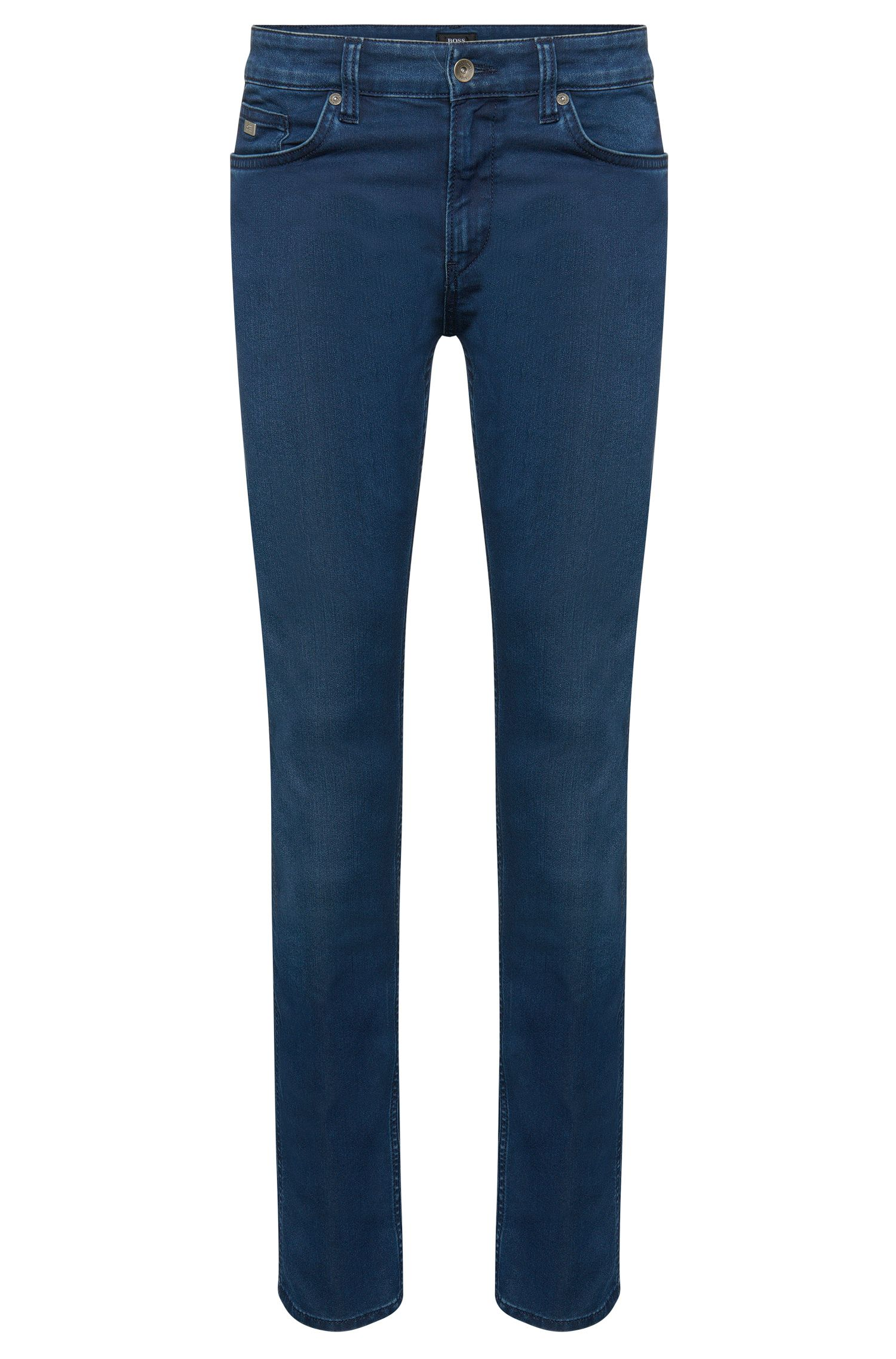 Slim-fit cotton-blend jeans with subtle used-look washes: 'Delaware3'