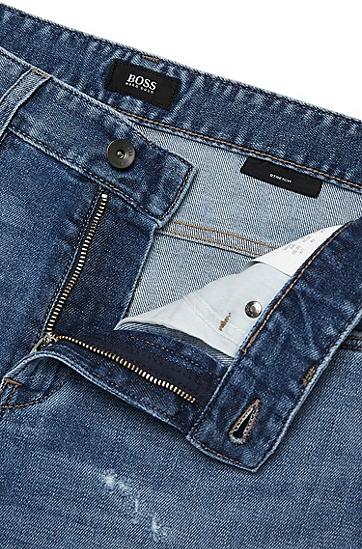 Slim-Fit Jeans aus Baumwoll-Mix: 'Delaware3', Blau