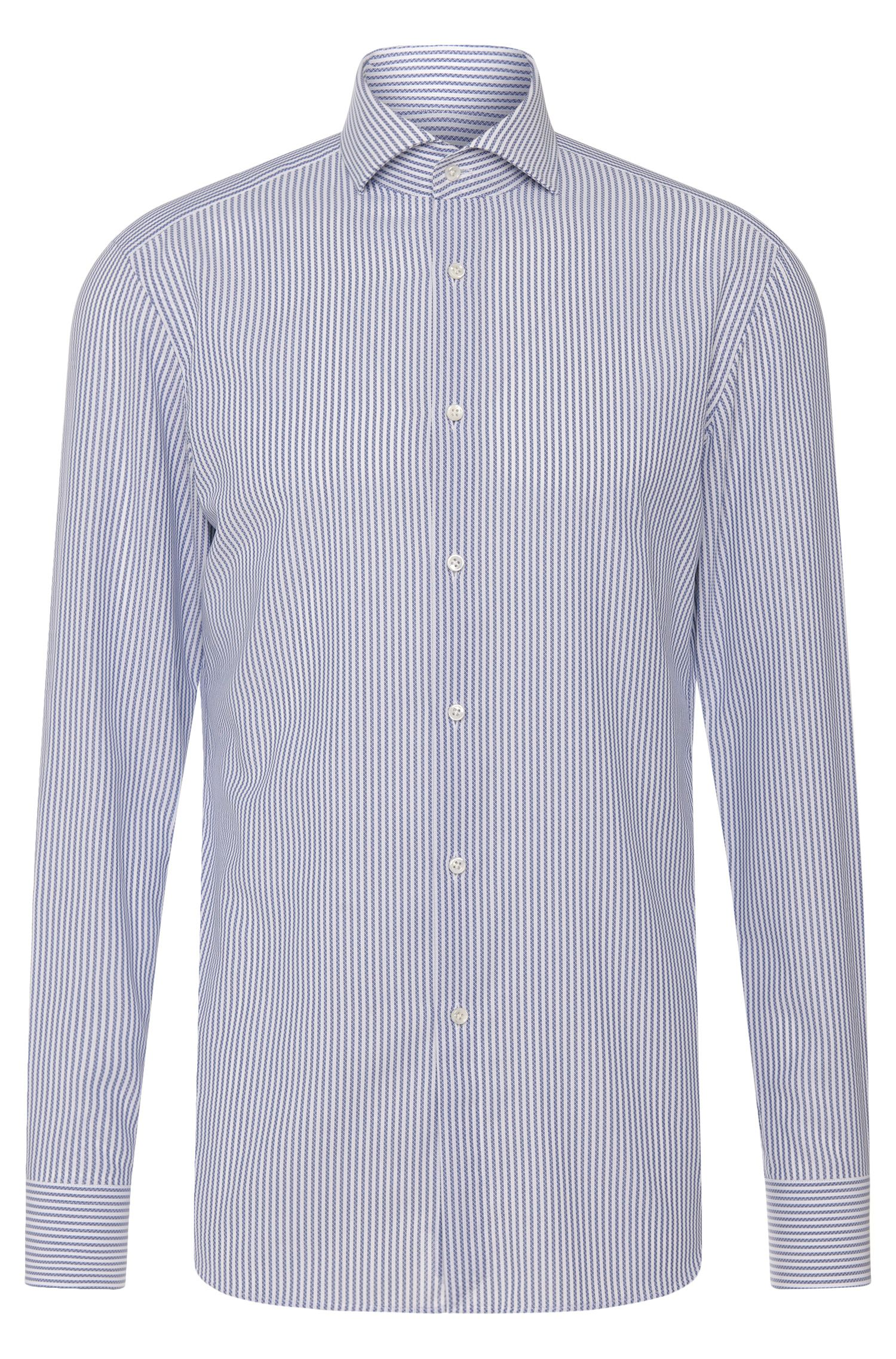 Slim-fit Tailored shirt in pure cotton: 'T-Christo'