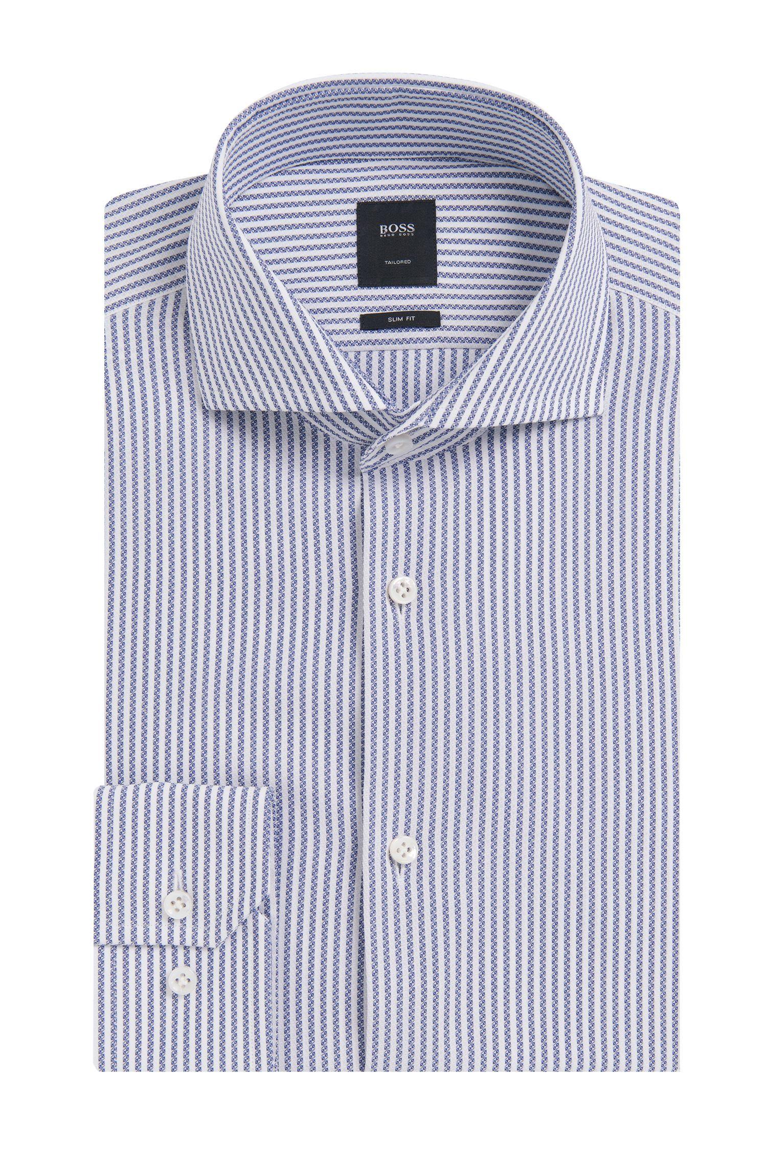 Slim-fit overhemd van zuivere katoen uit de Tailored-collectie: 'T-Christo'