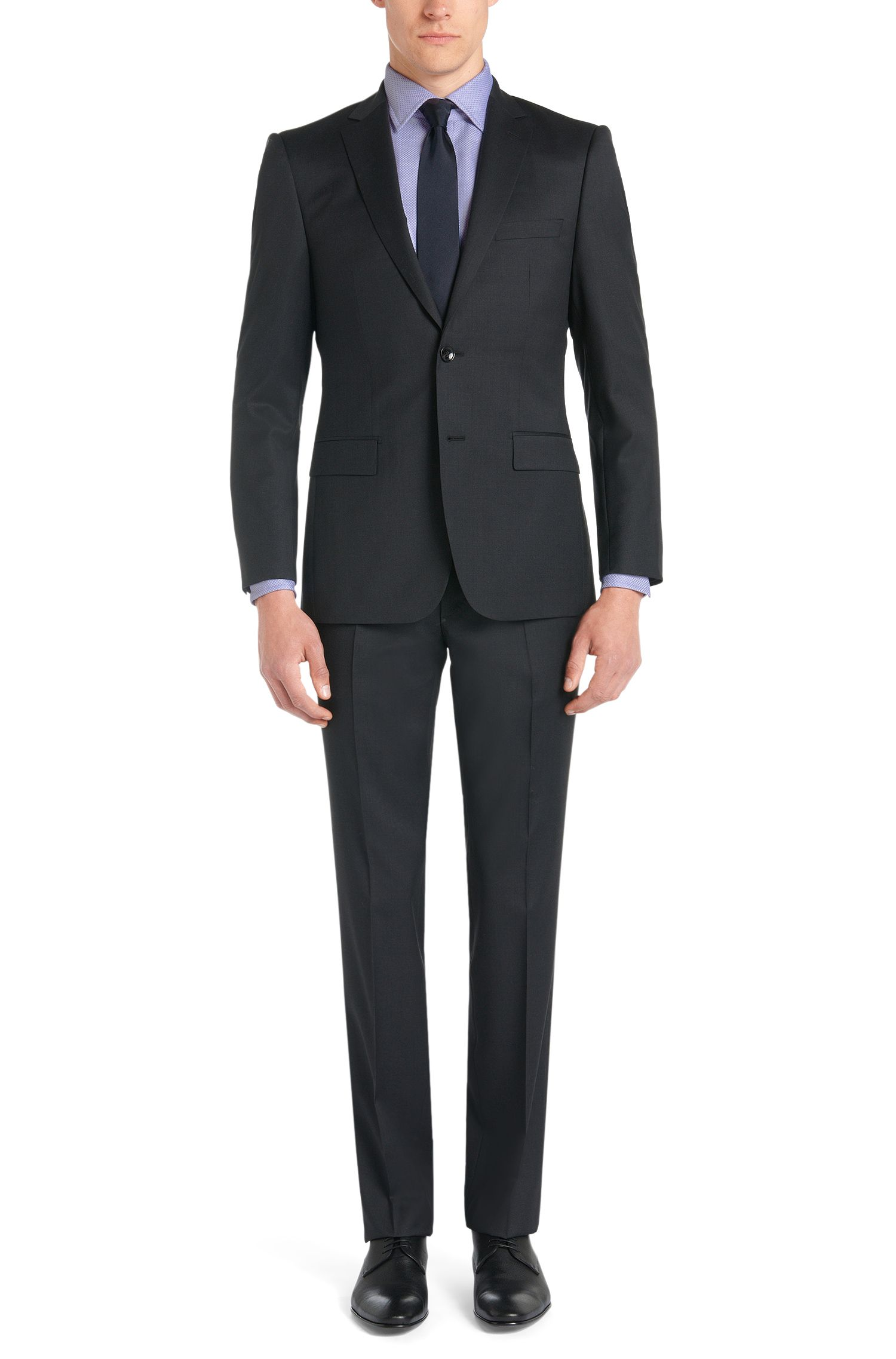 Fein gemustertes Slim-Fit Tailored Hemd aus Baumwolle: 'T-Shane'
