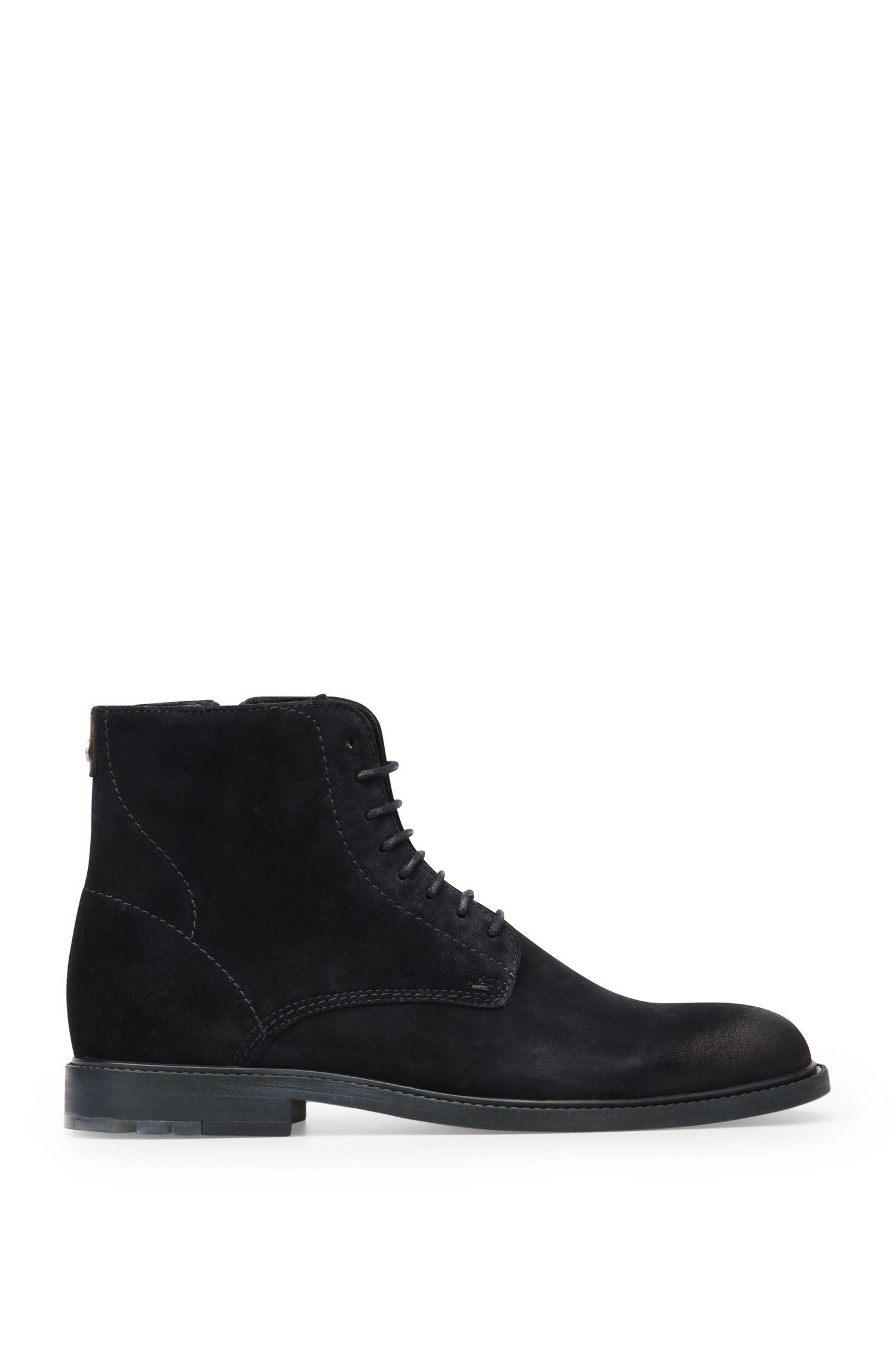 Boots en daim lacées et zippées: «Cultroot_Halb_sdpl»