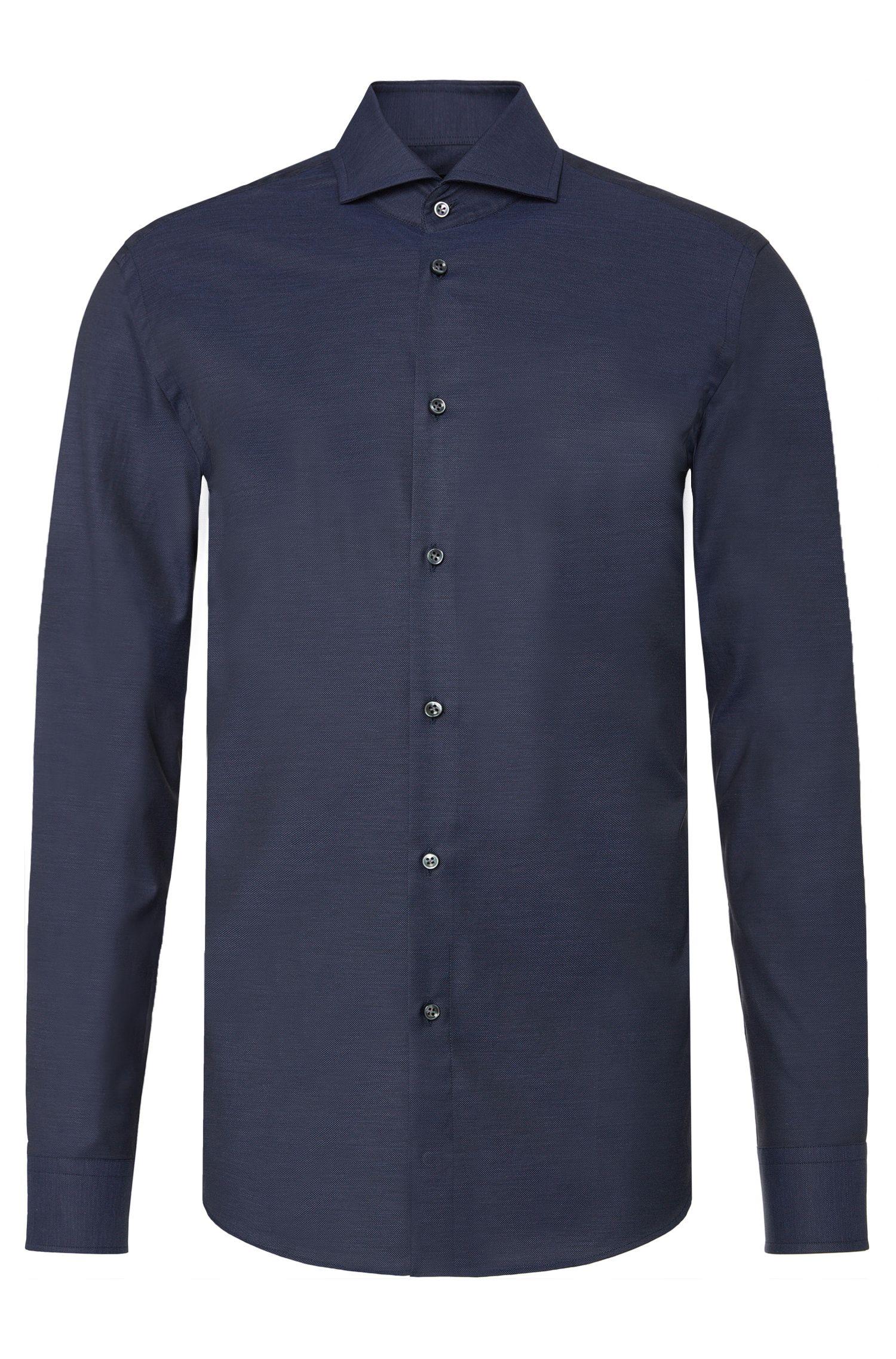 Finely textured slim-fit shirt in cotton: 'T-Christo'