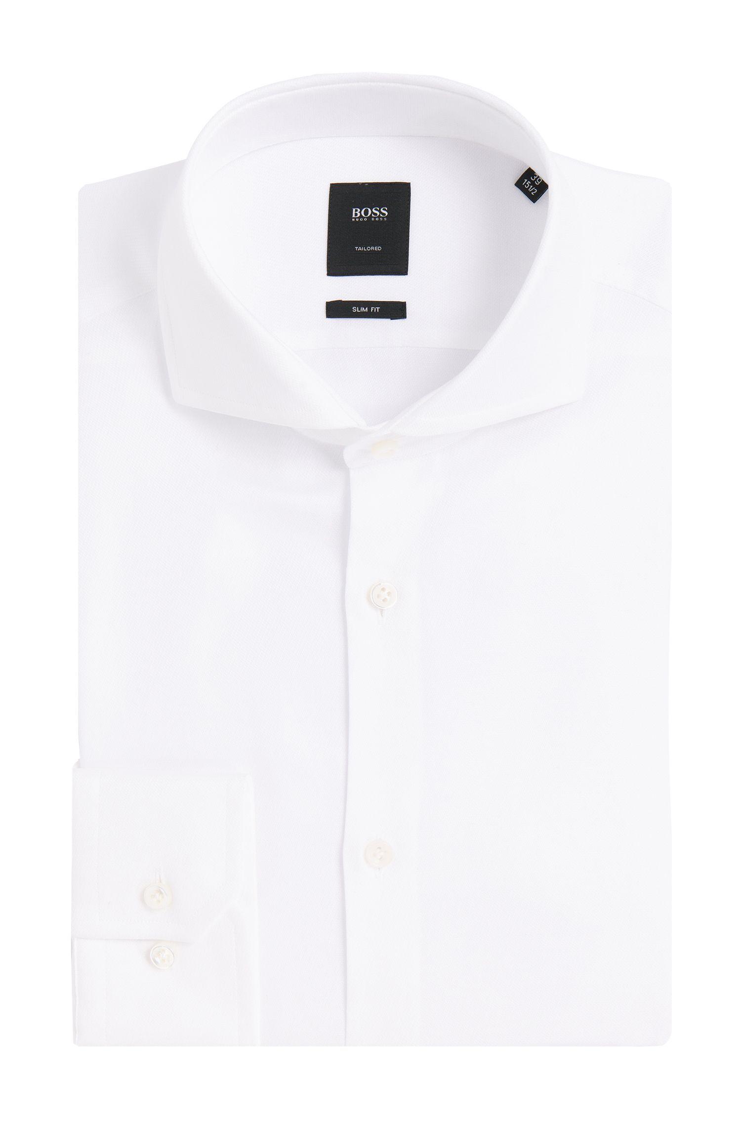 Chemise Slim Fit Tailored en coton: «T-Christo»