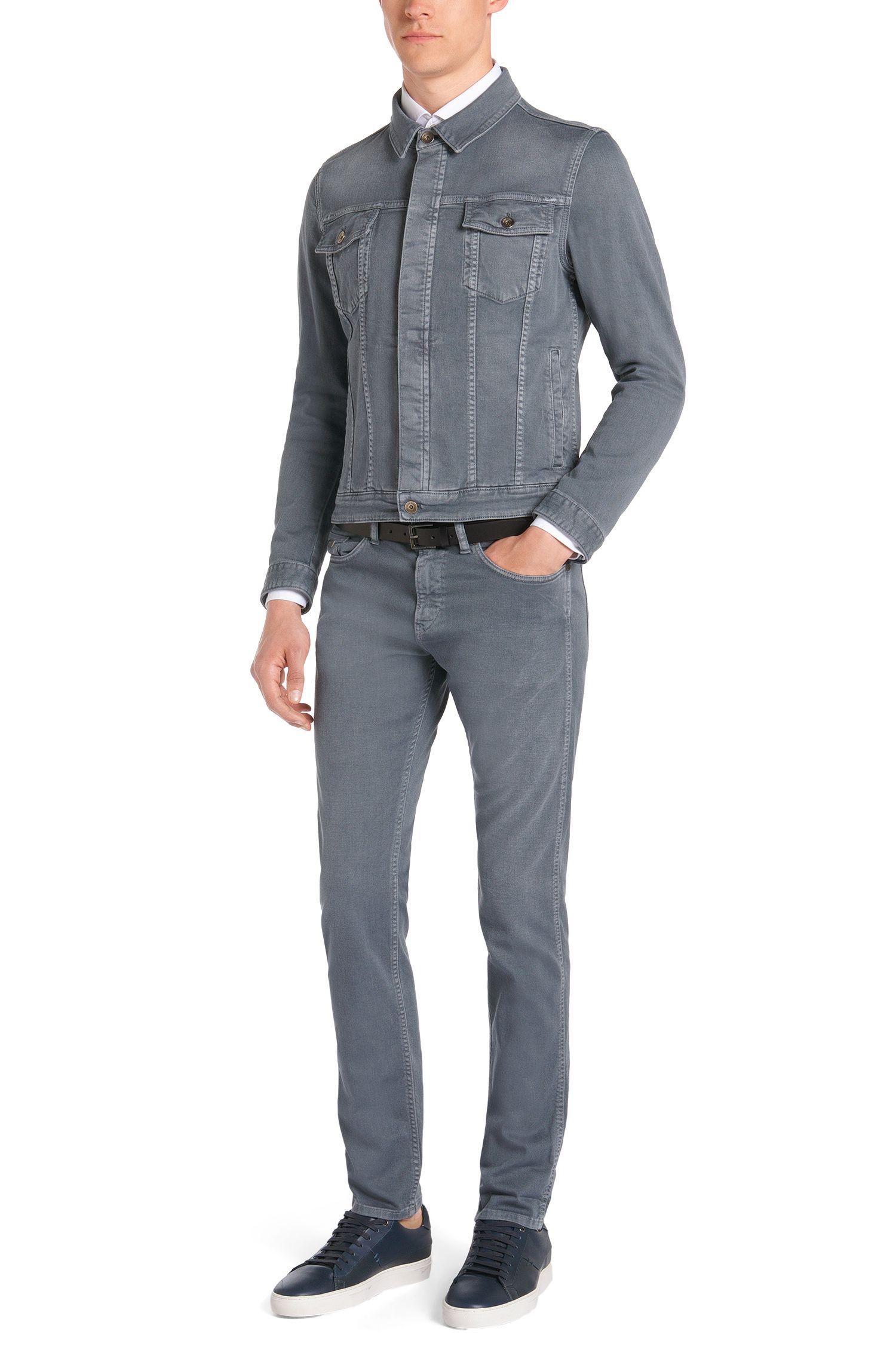 Veste en jean Slim Fit en coton stretch: «Windham2»