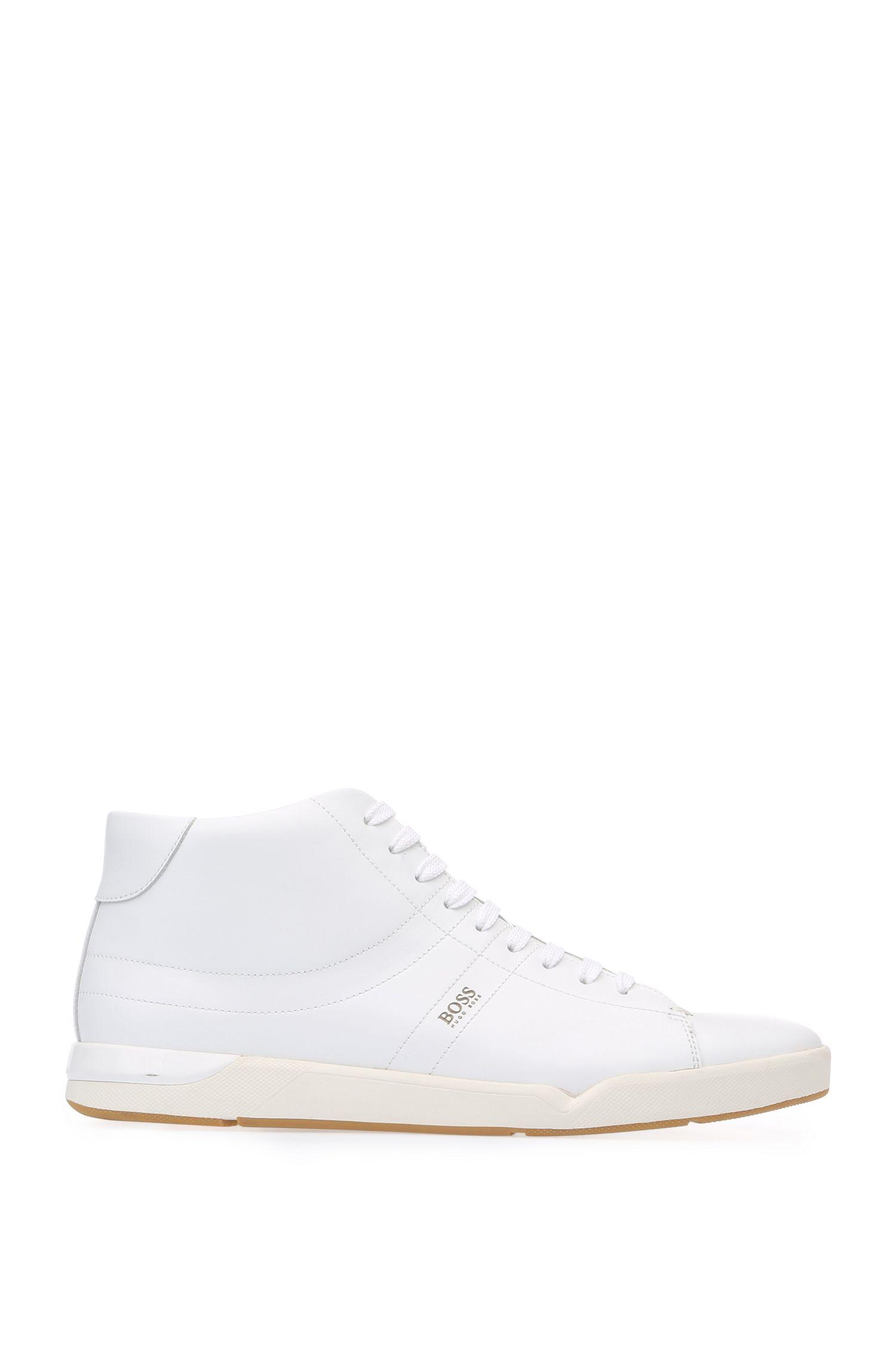 High-top trainers in leather: 'Stillnes_Hicu_ltpl'