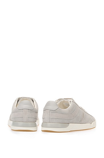 Sneakers aus Veloursleder: ´Stillnes_Tenn_sdpf`, Hellgrau