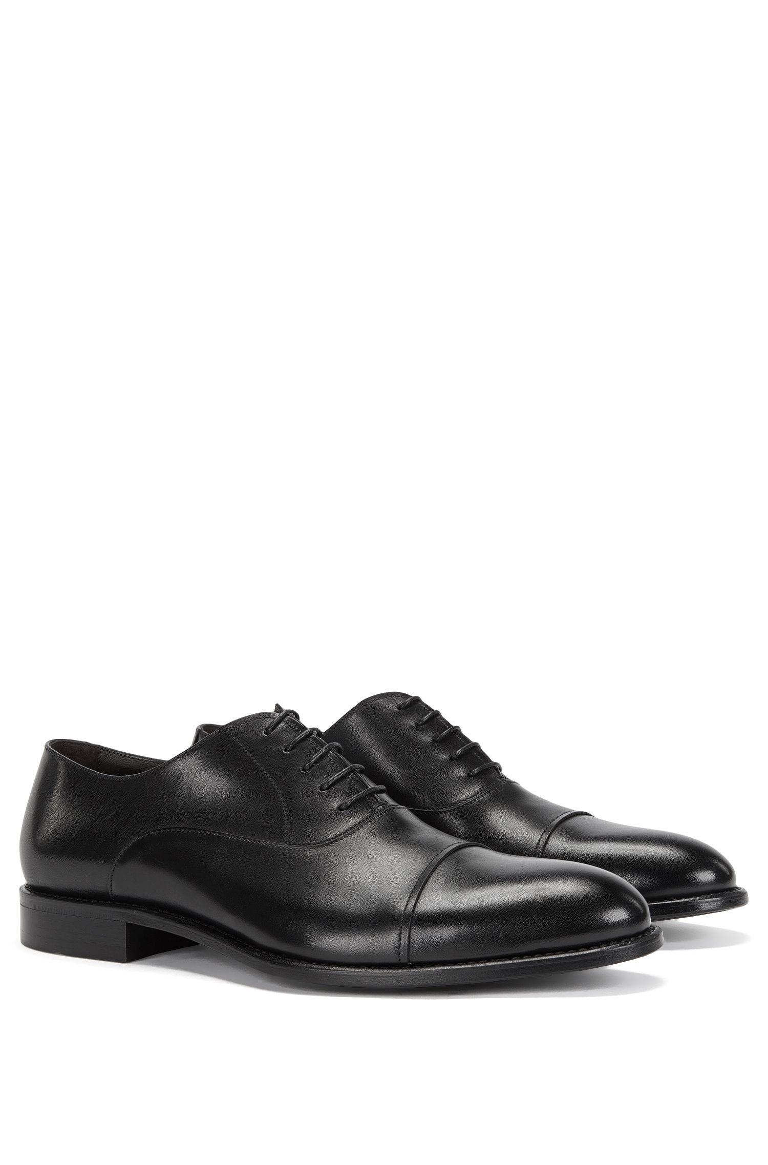 Chaussures à lacets en cuir, au design contrastant sur le devant: «Stockholm_Oxfr_ltct»