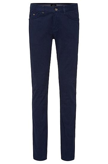 Slim-Fit Jeans aus Baumwoll-Mix mit Kaschmir-Anteil: 'Delaware4-10', Dunkelblau