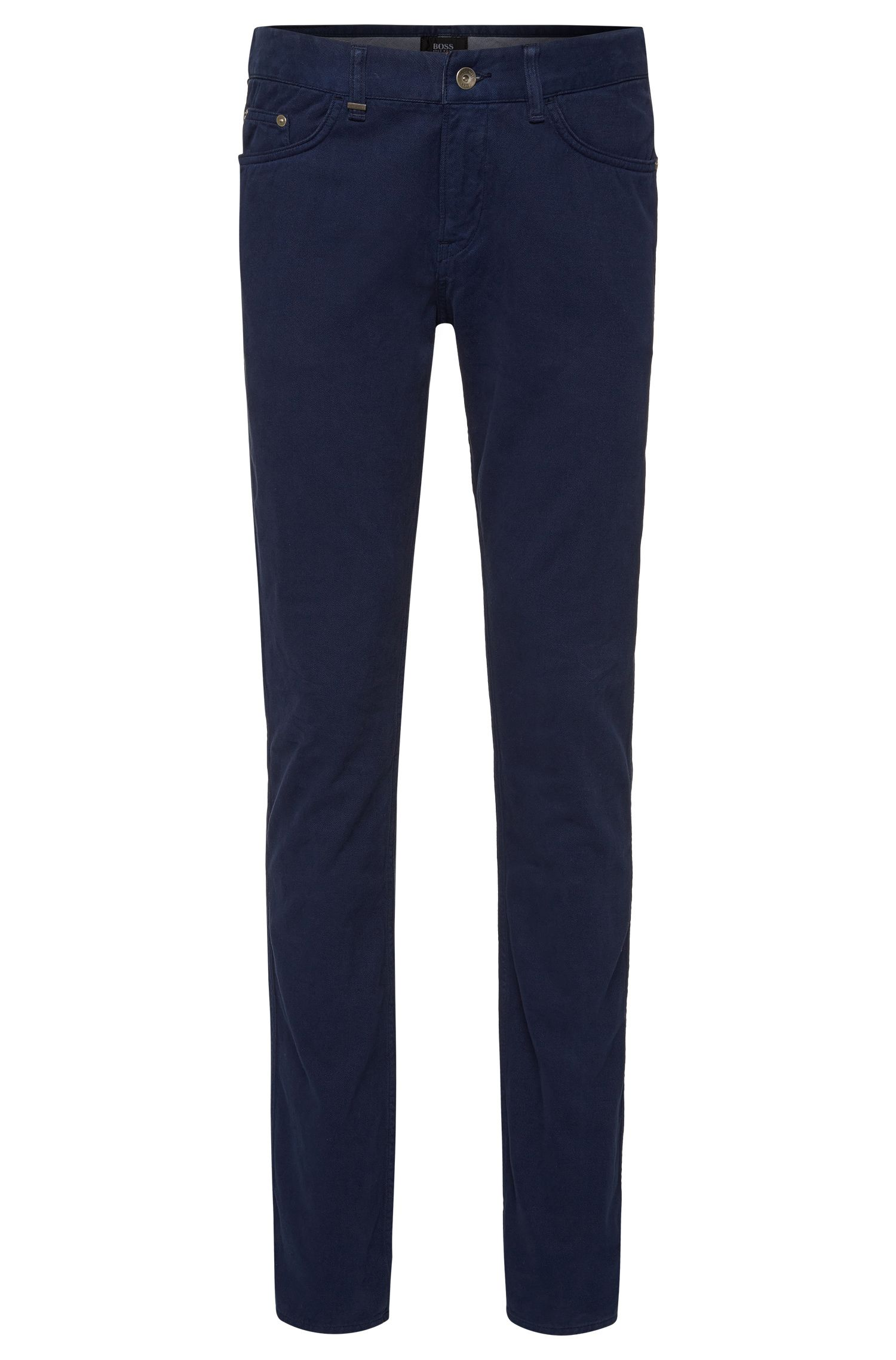 Slim-fit jeans in cotton blend with cashmere: 'Delaware4-10'