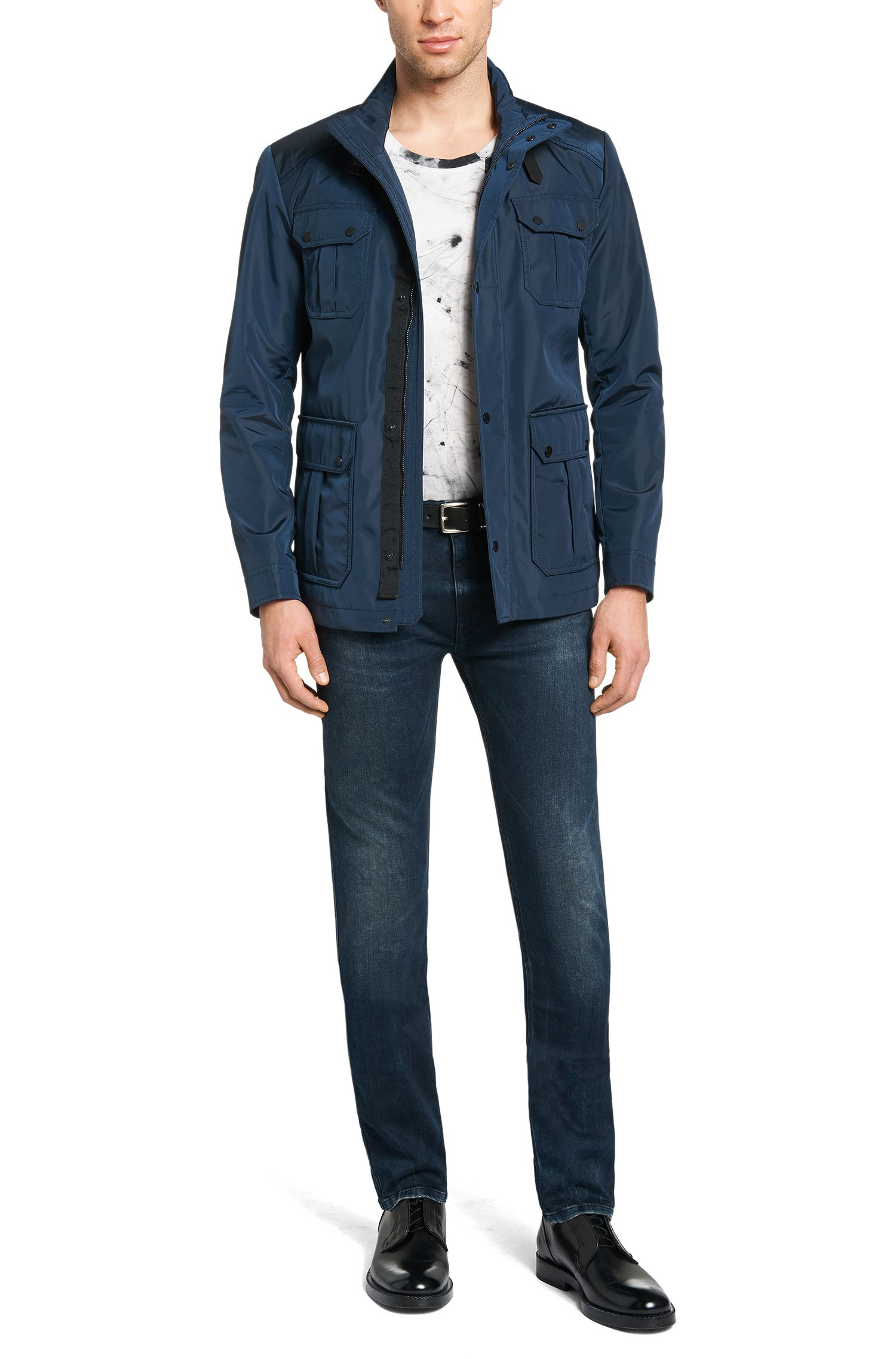 Regular-Fit T-Shirt aus Baumwolle mit Allover-Muster: 'Durn'