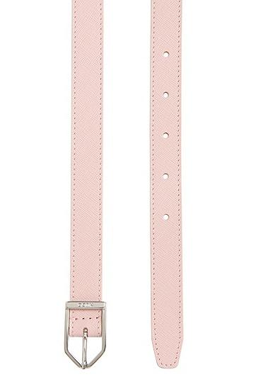 Gürtel aus Leder mit Dornschließe: 'Tilda-S', Hellrosa